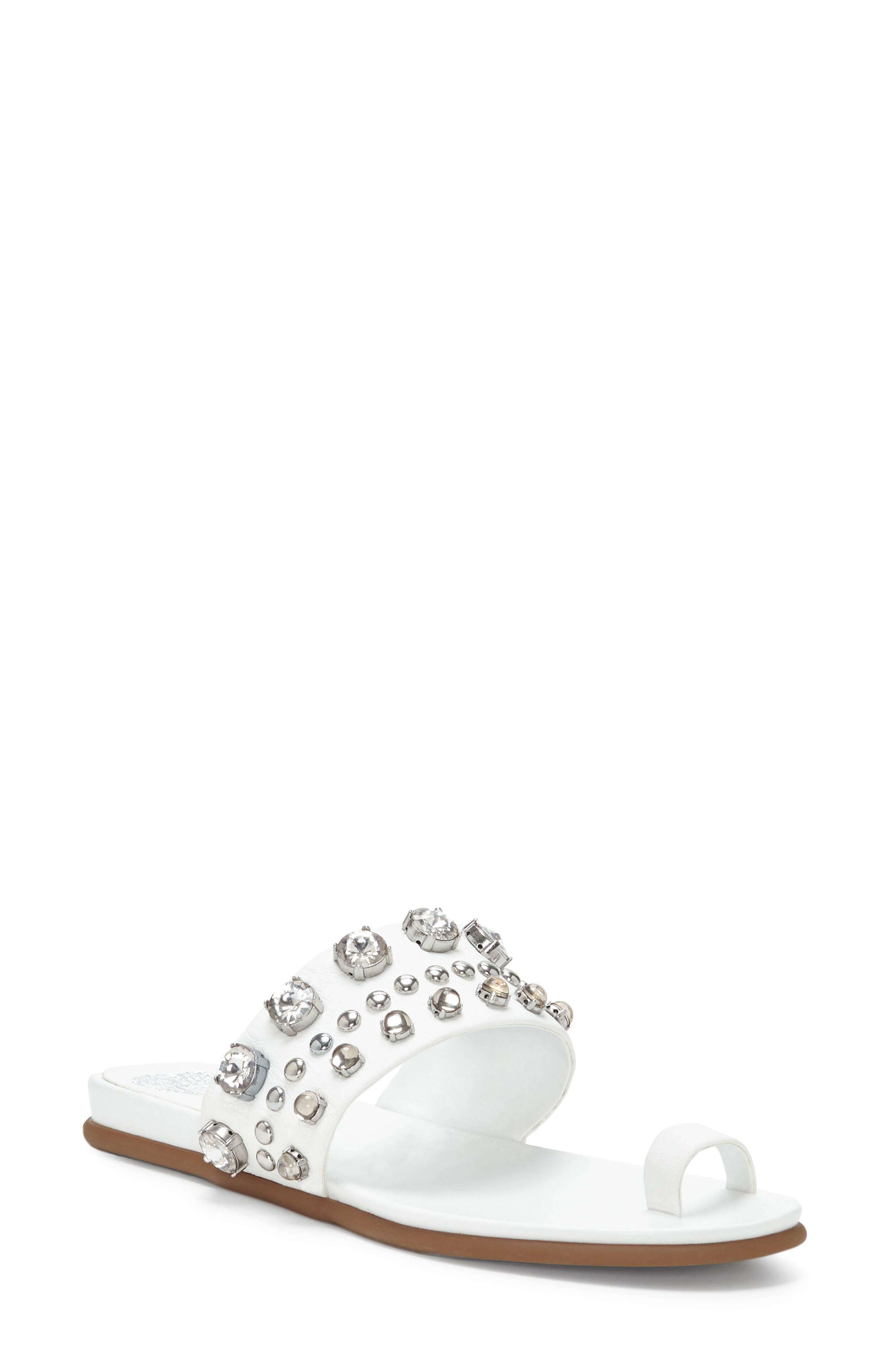 Emmerly Embellished Sandal,                         Main,                         color, Pure