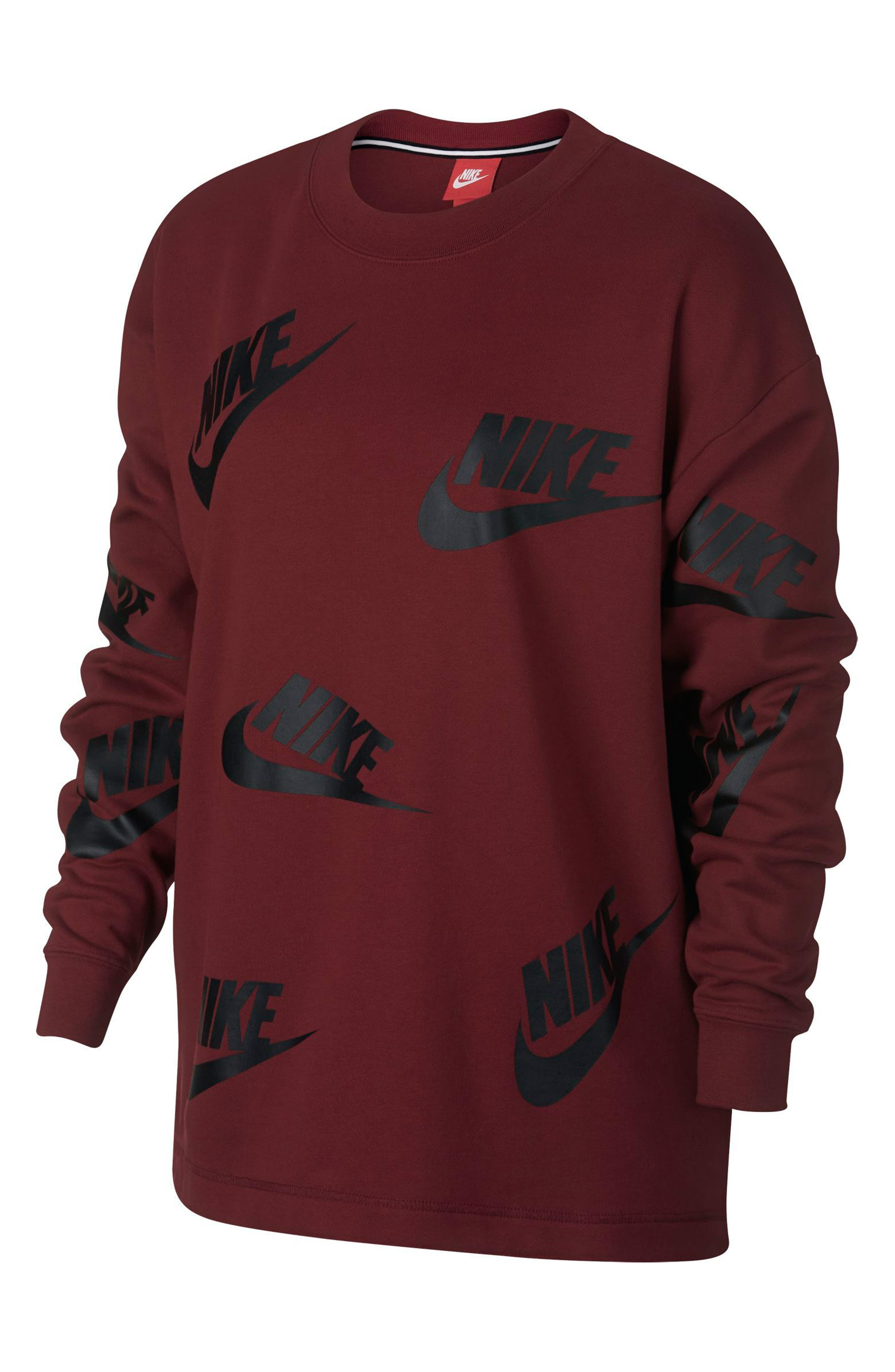 Sportswear Futura Women's Crewneck Sweatshirt,                             Main thumbnail 1, color,                             Team Red/ Black