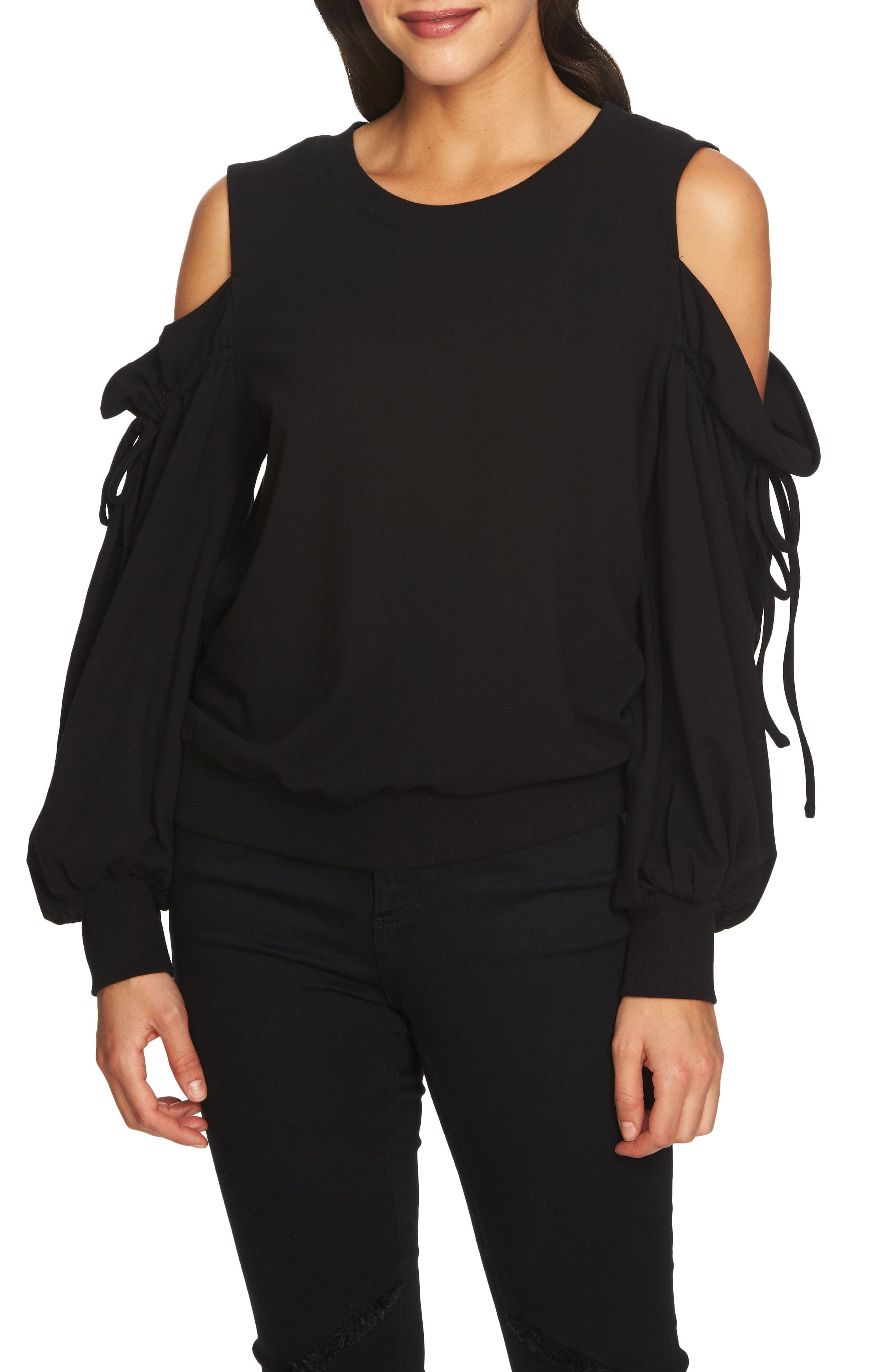 Alternate Image 1 Selected - 1.STATE Cold Shoulder Blouson Sweater