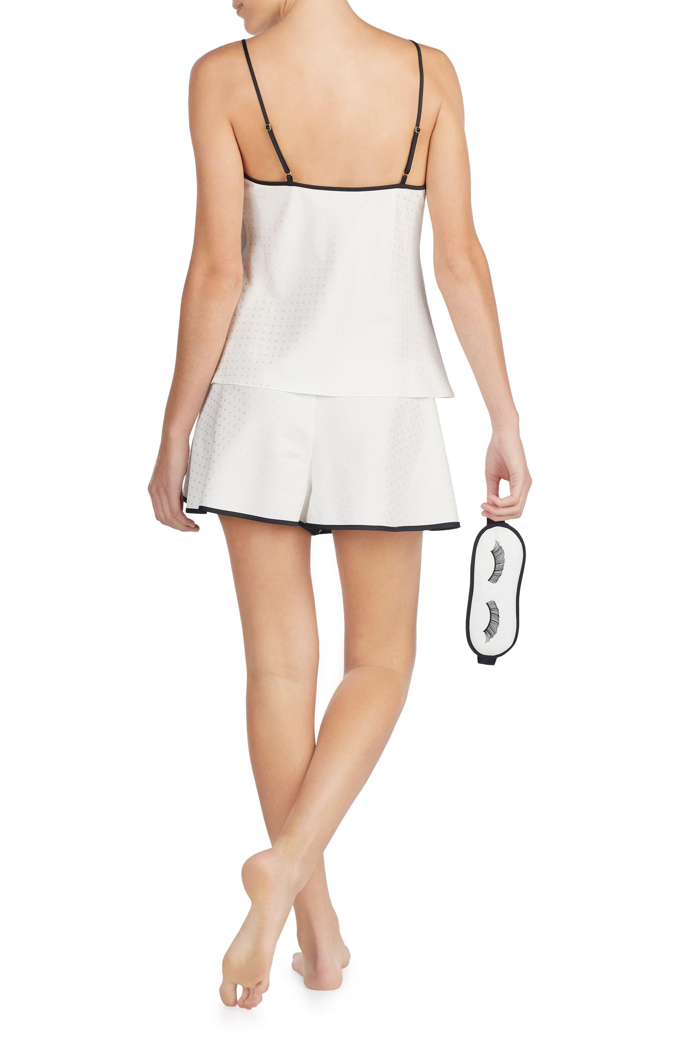 mrs pajamas & sleep mask,                             Alternate thumbnail 2, color,                             Off White
