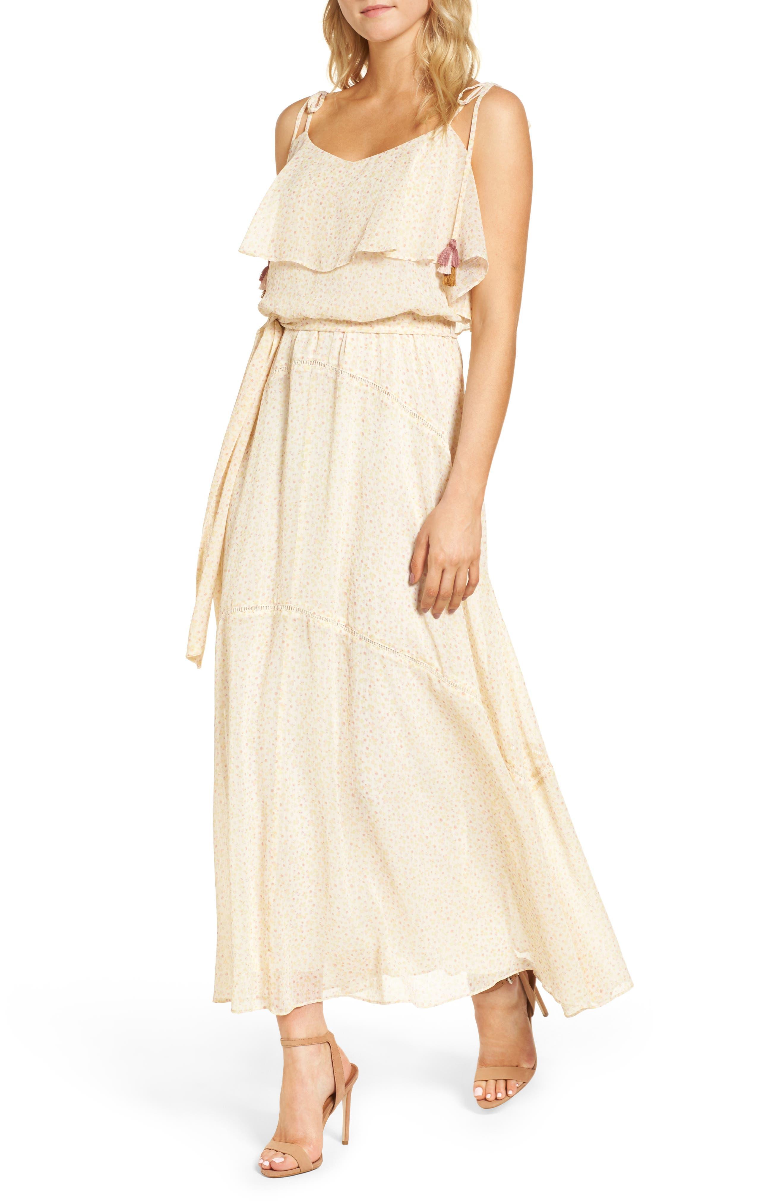 Decklan Maxi Dress,                         Main,                         color, Off White