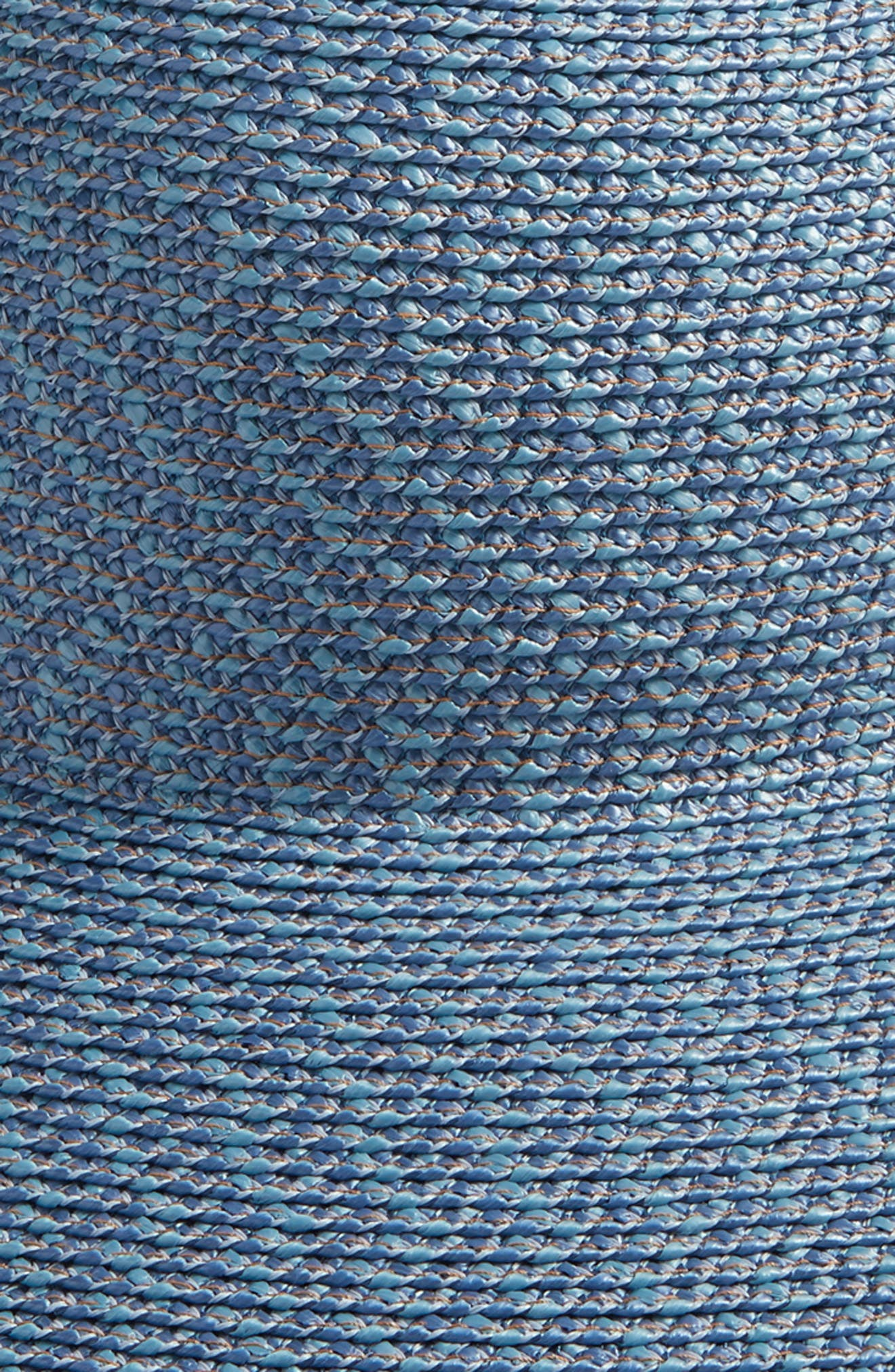 'Hampton' Straw Sun Hat,                             Alternate thumbnail 3, color,                             Denim
