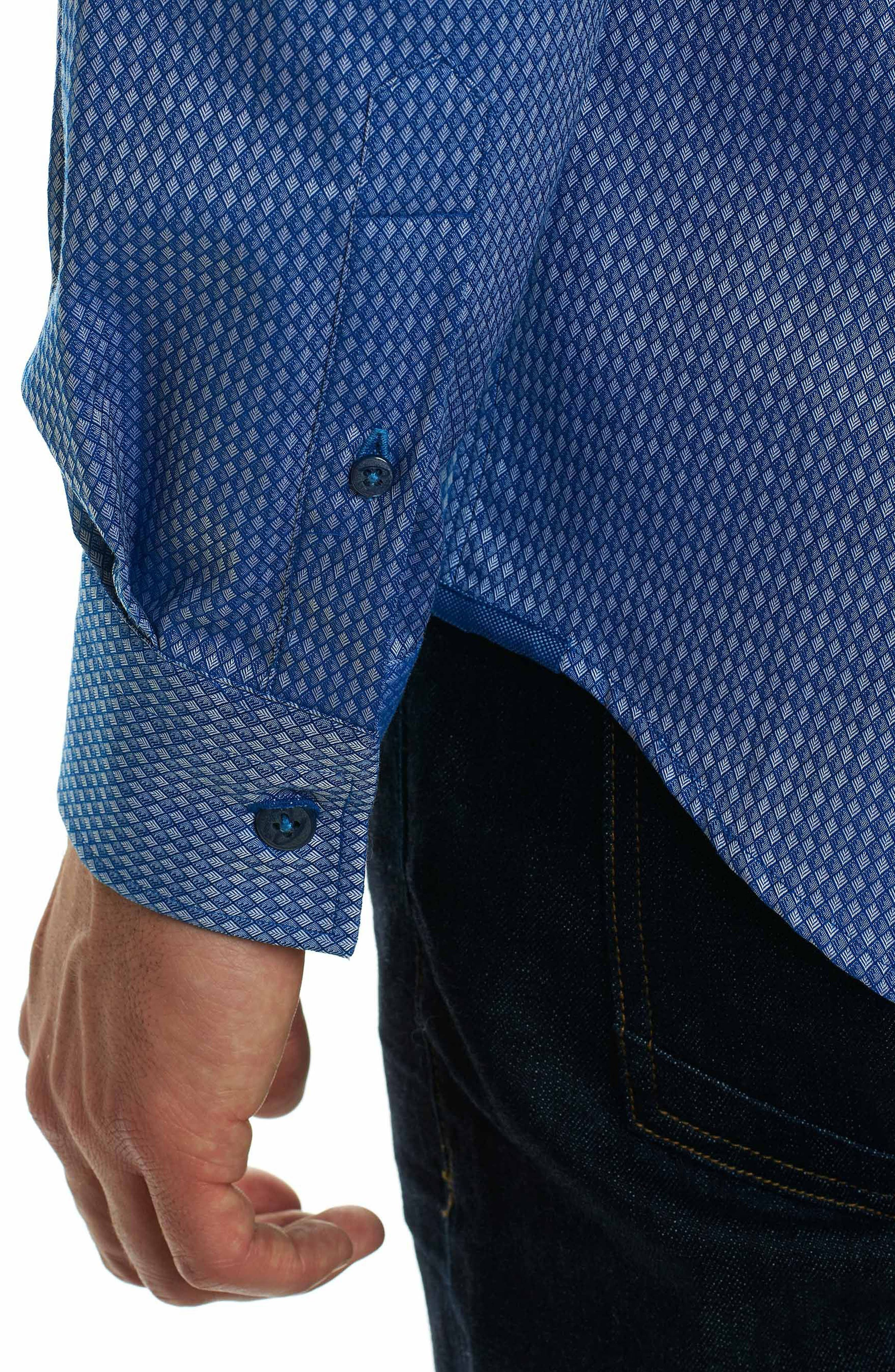 Alternate Image 5  - Robert Graham Matthew Classic Fit Print Sport Shirt