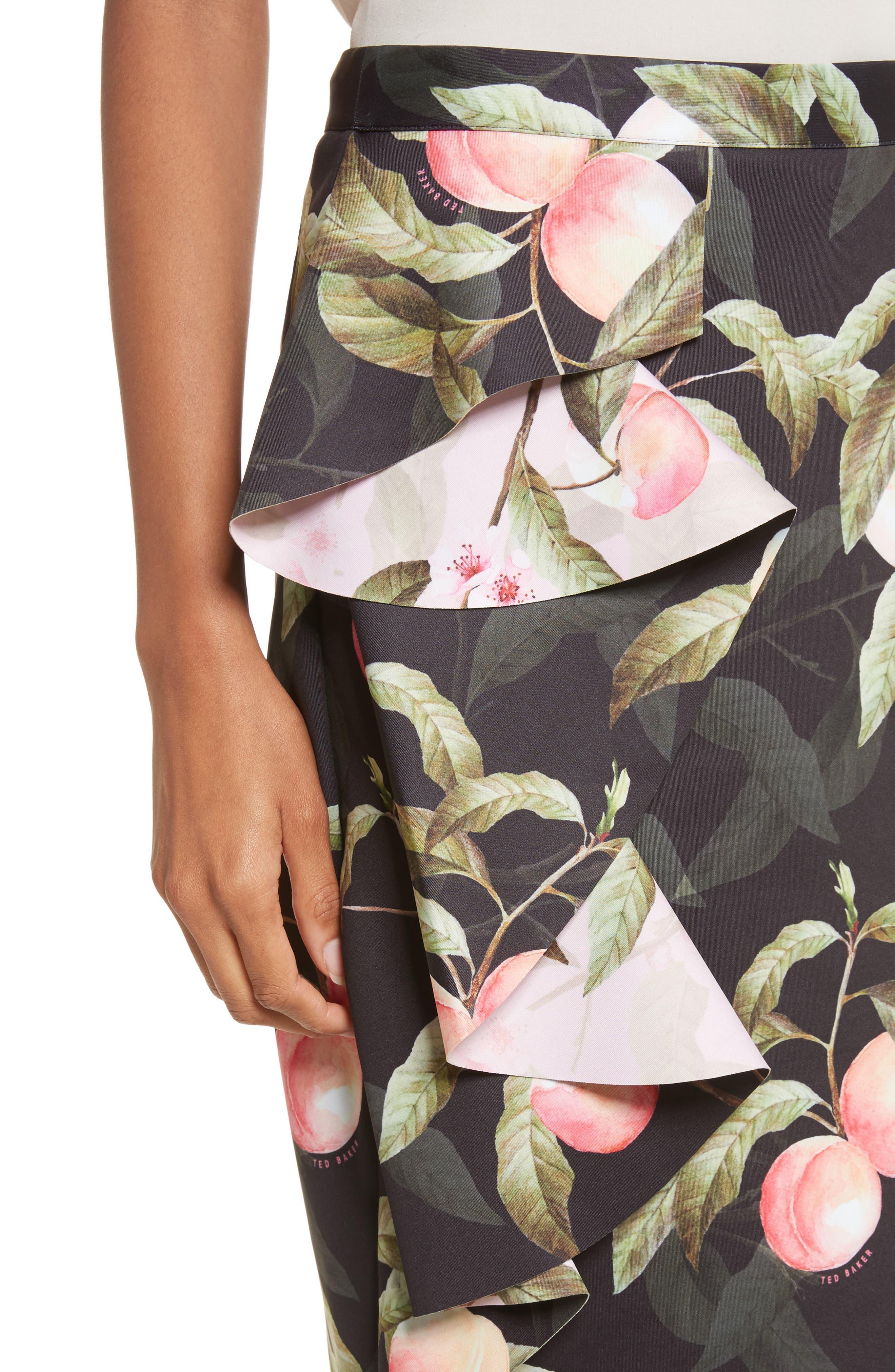 Alternate Image 4  - Ted Baker London Peaches Ruffle Pencil Skirt