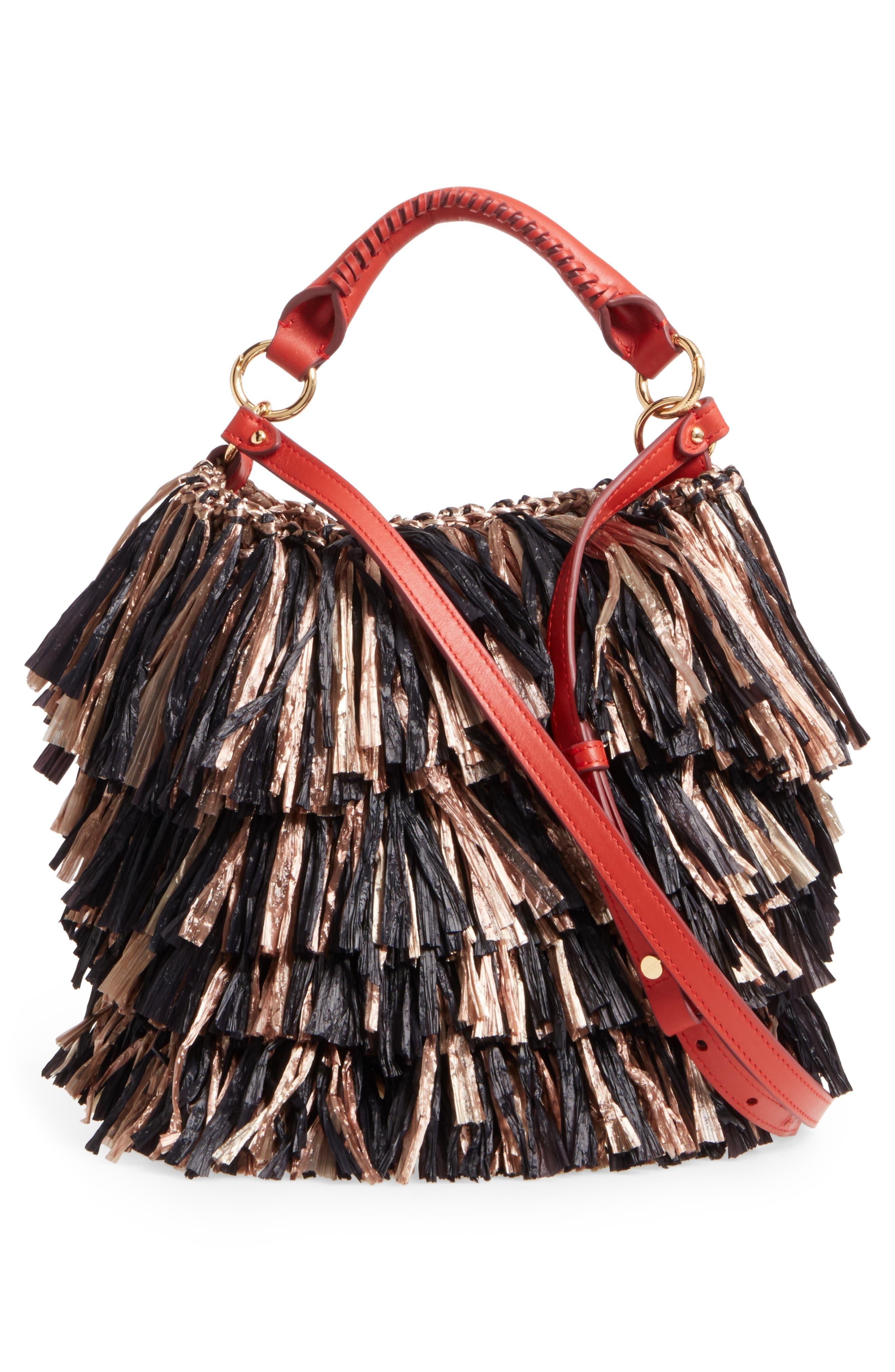 Alternate Image 4  - Diane von Furstenberg Raffia Fringe Bucket Bag