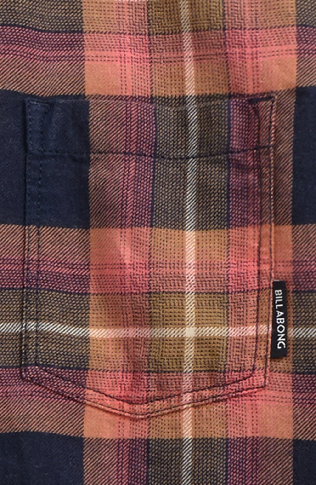 Freemont Plaid Flannel Shirt,                             Alternate thumbnail 2, color,                             Navy