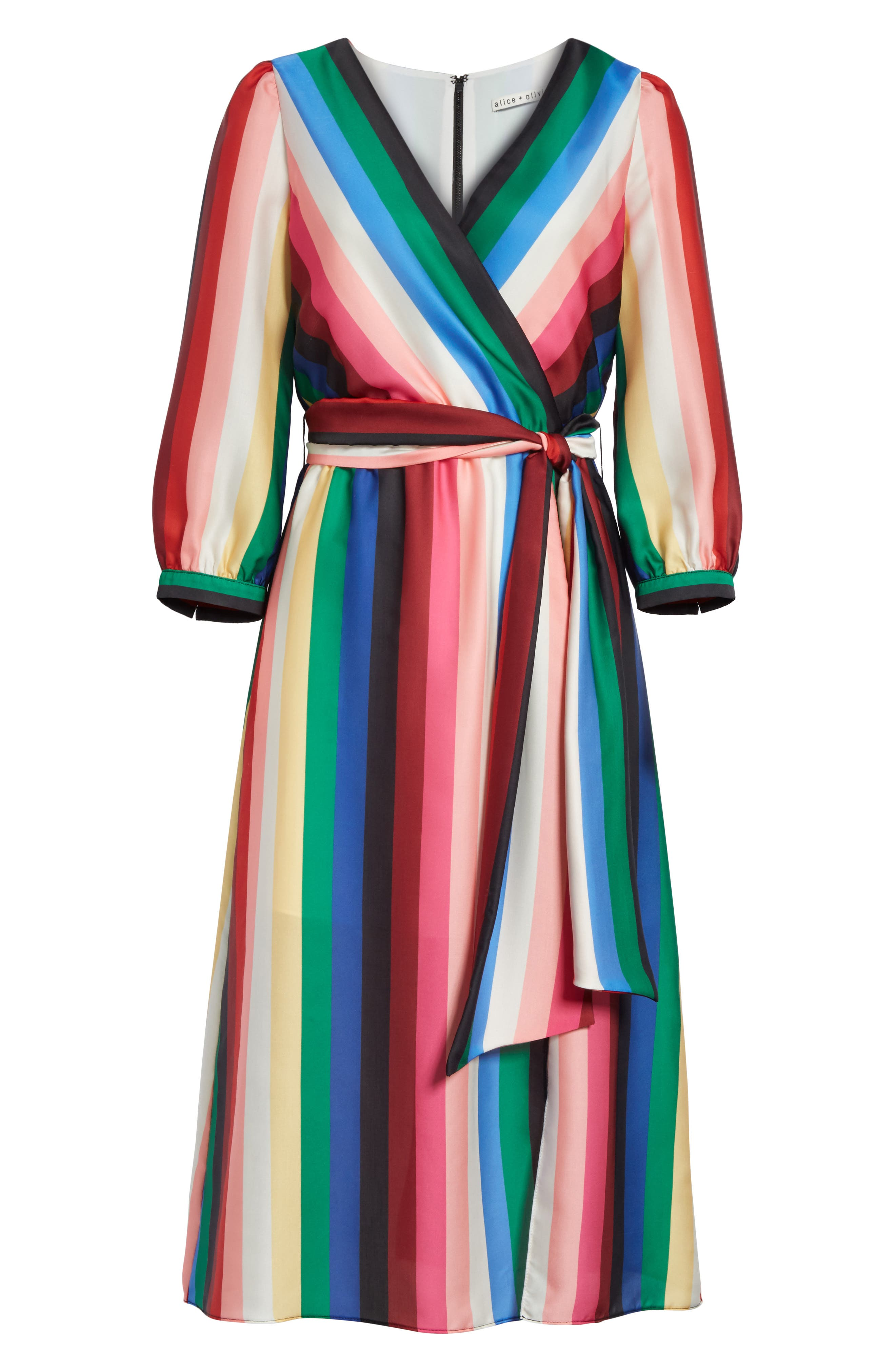 Alternate Image 6  - Alice + Olivia Dyanna Midi Dress