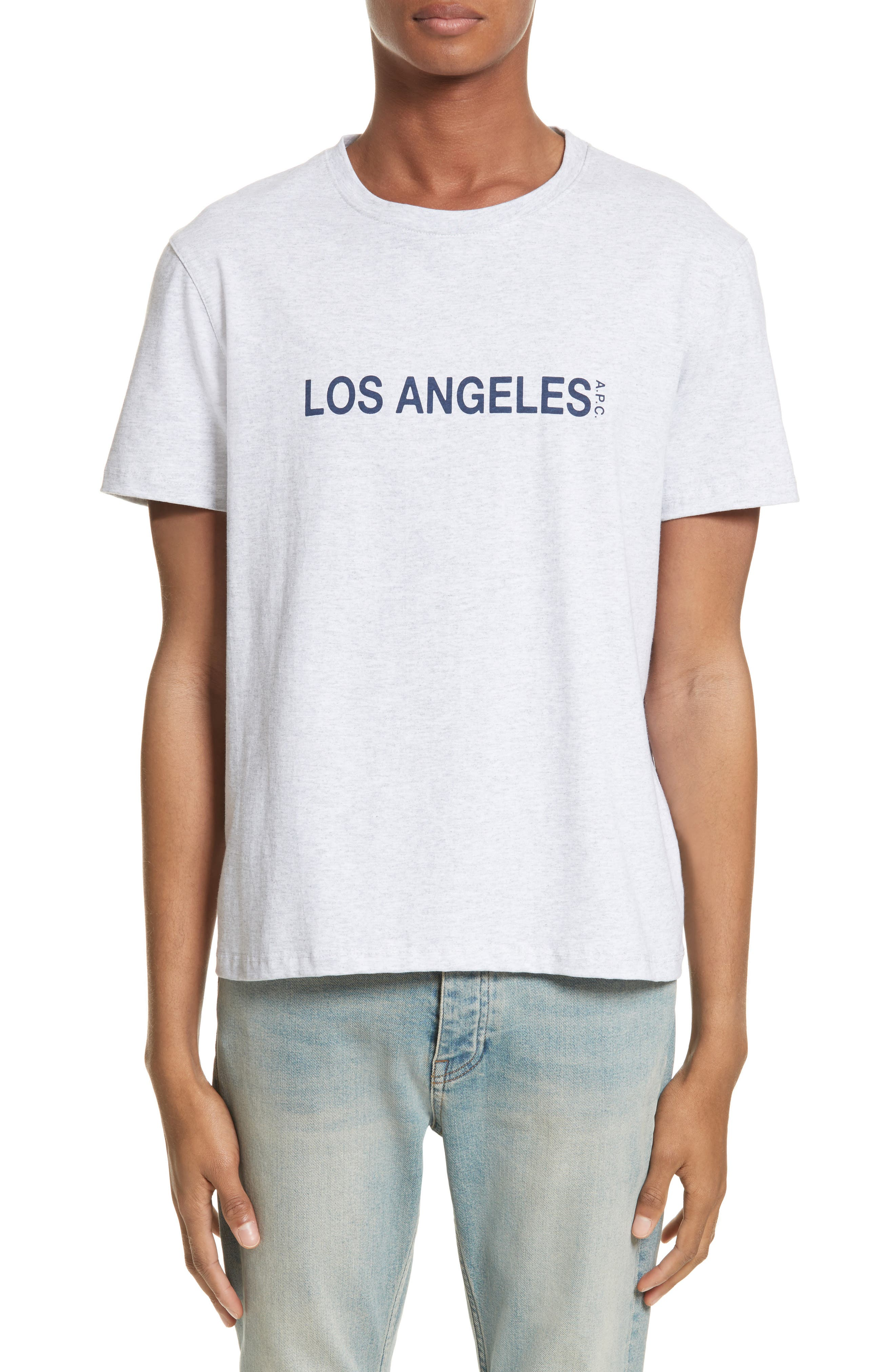 Los Angeles Graphic T-Shirt,                             Main thumbnail 1, color,                             Gris Chine Pla