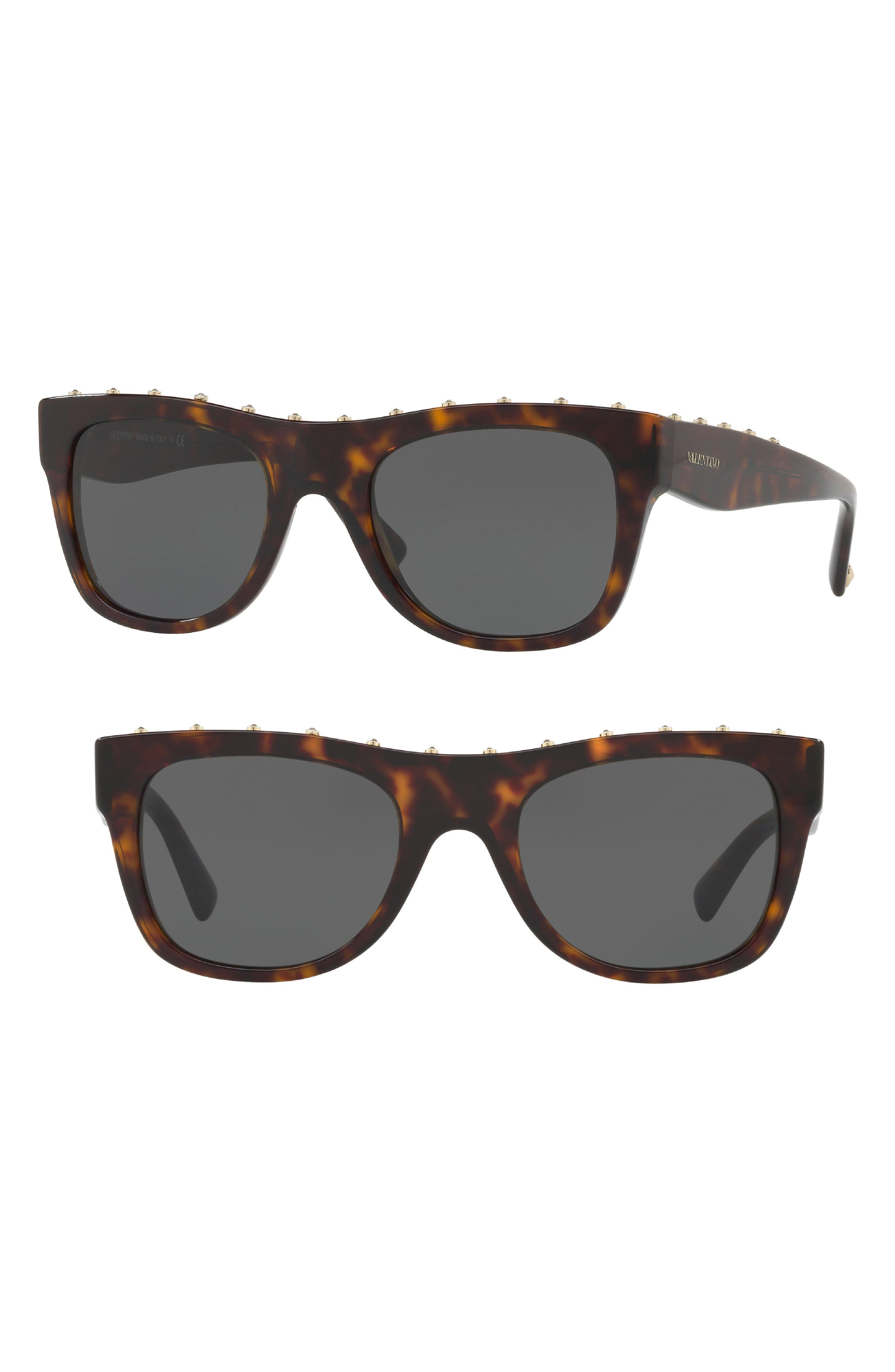Valentino 51mm Studded Sunglasses