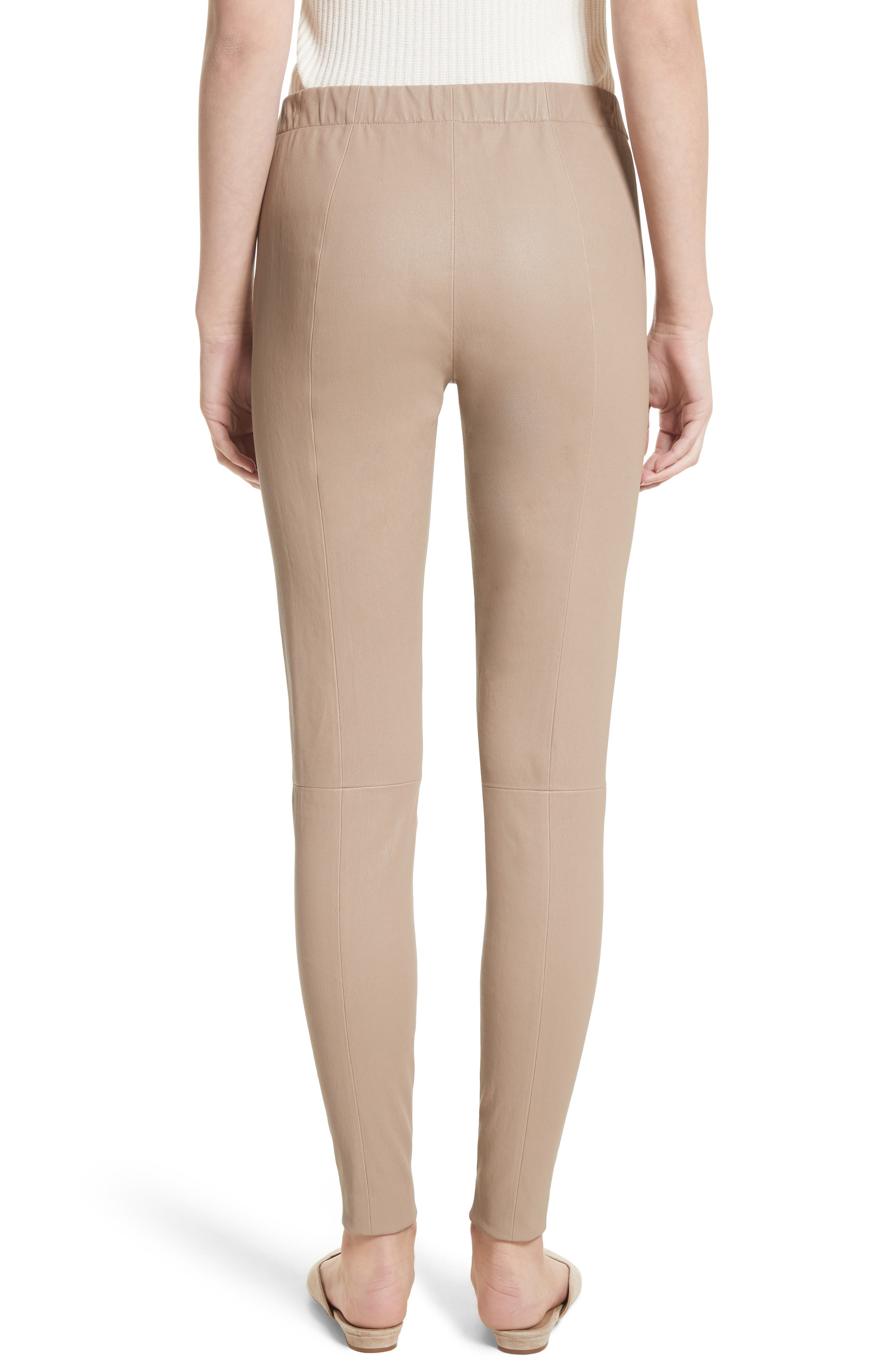 Alternate Image 2  - St. John Collection Stretch Leather Pants
