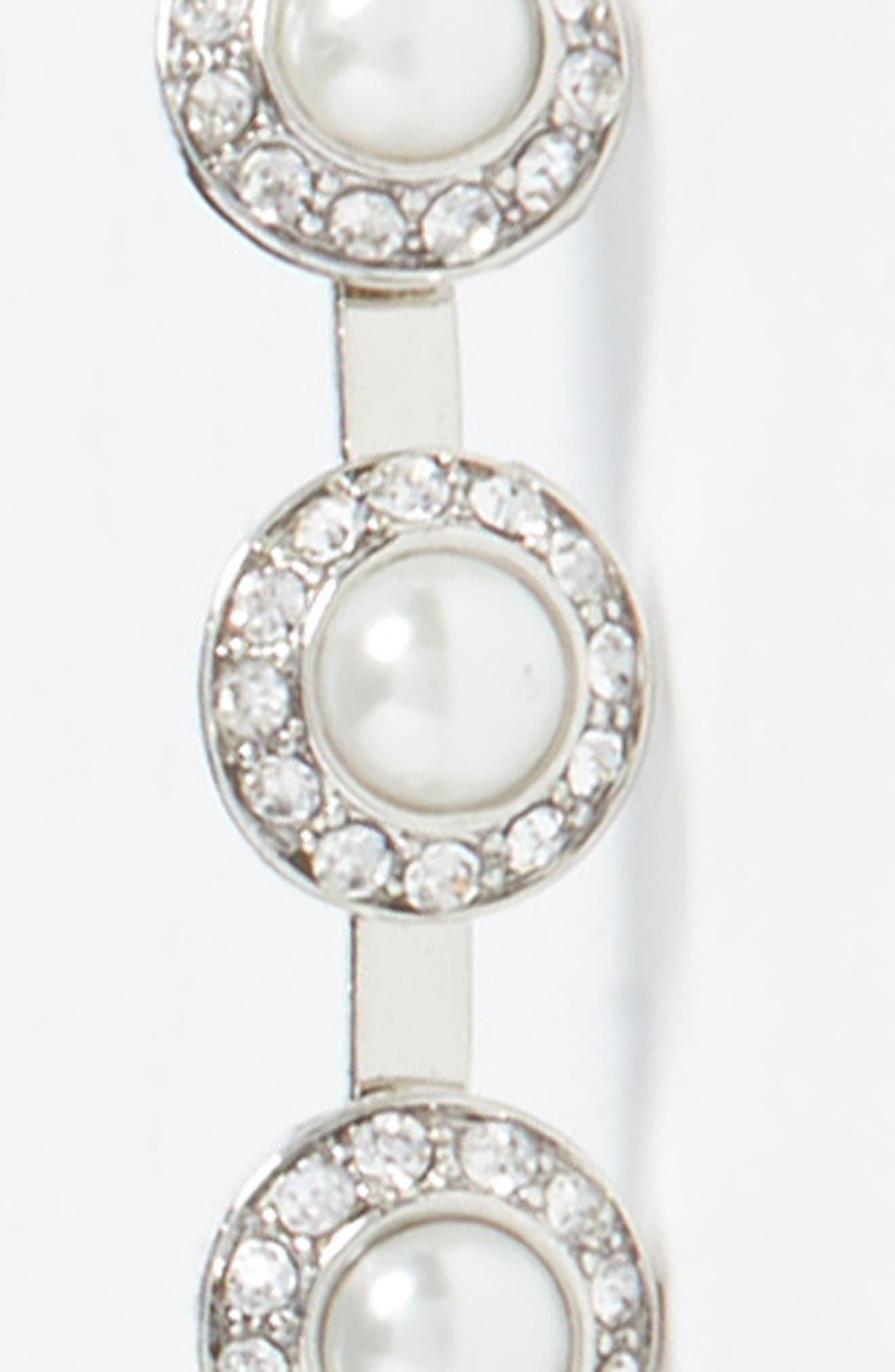 Dome Imitation Pearl Headband,                             Alternate thumbnail 2, color,                             Silver