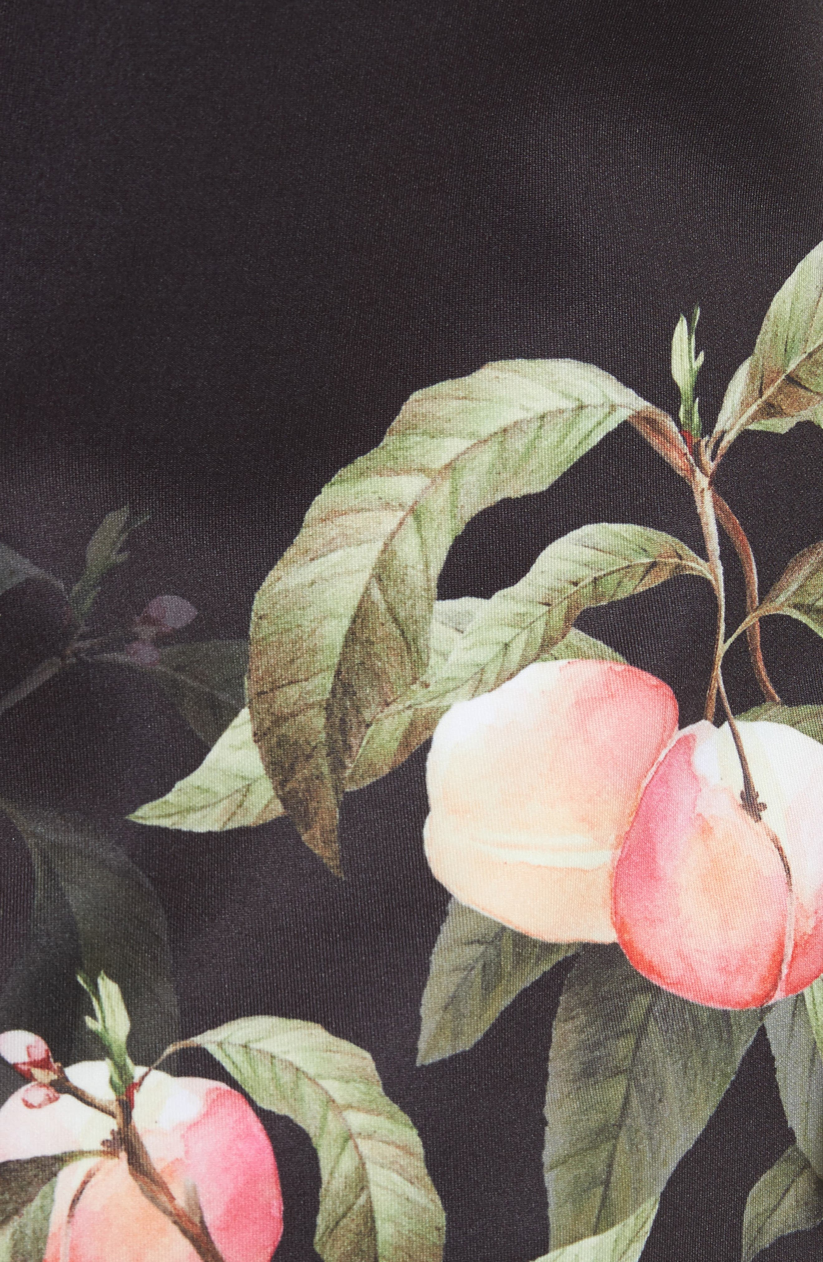 Peach Blossom Bell Sleeve Top,                             Alternate thumbnail 5, color,                             Black