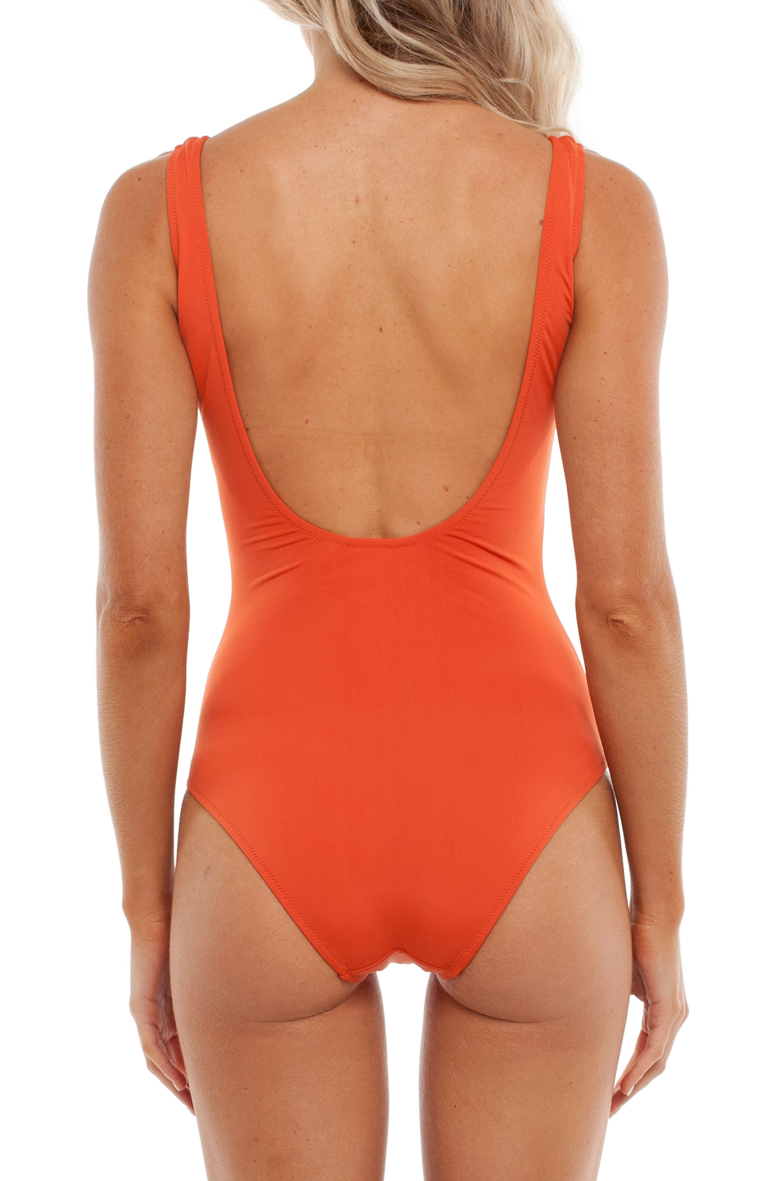 Sunkissed One-Piece Swimsuit,                             Alternate thumbnail 2, color,                             Tangelo
