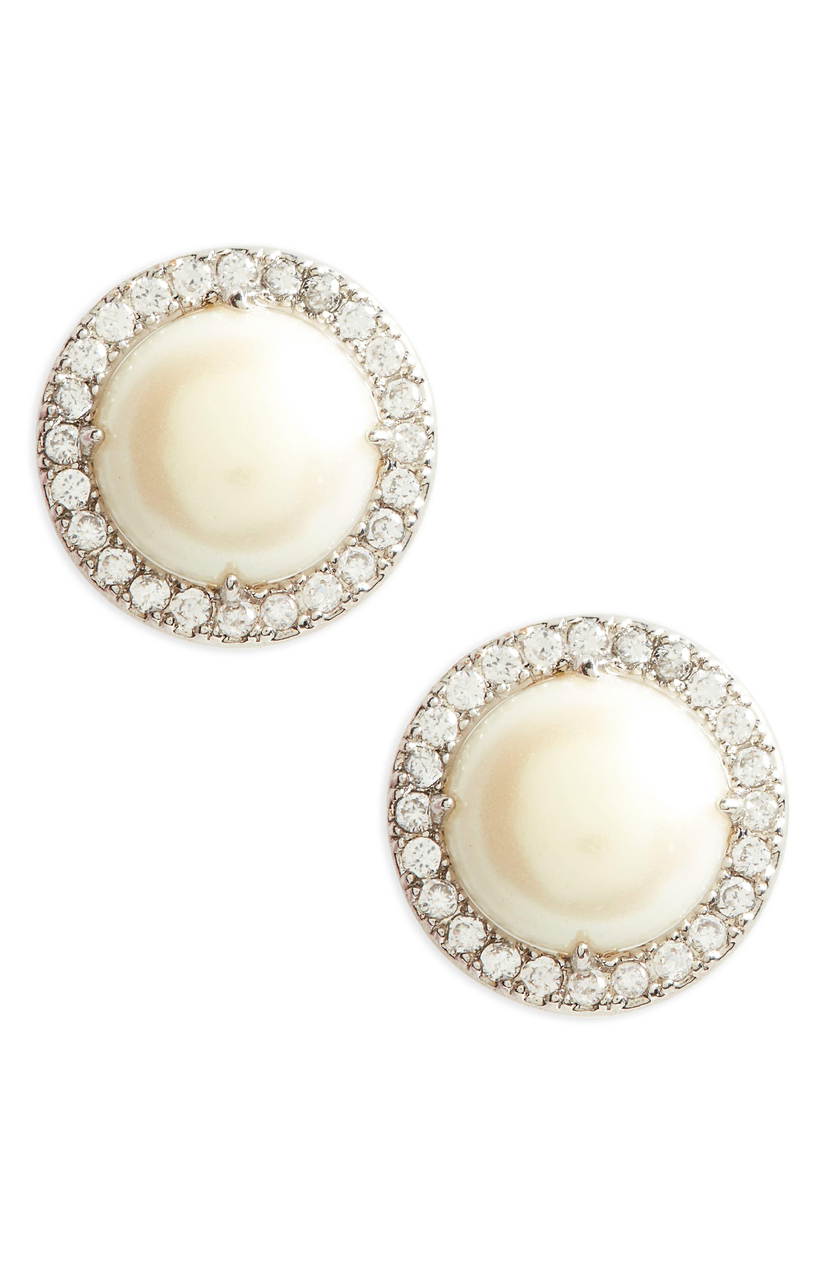 Main Image - kate spade new york bright ideas pavé halo stud earrings