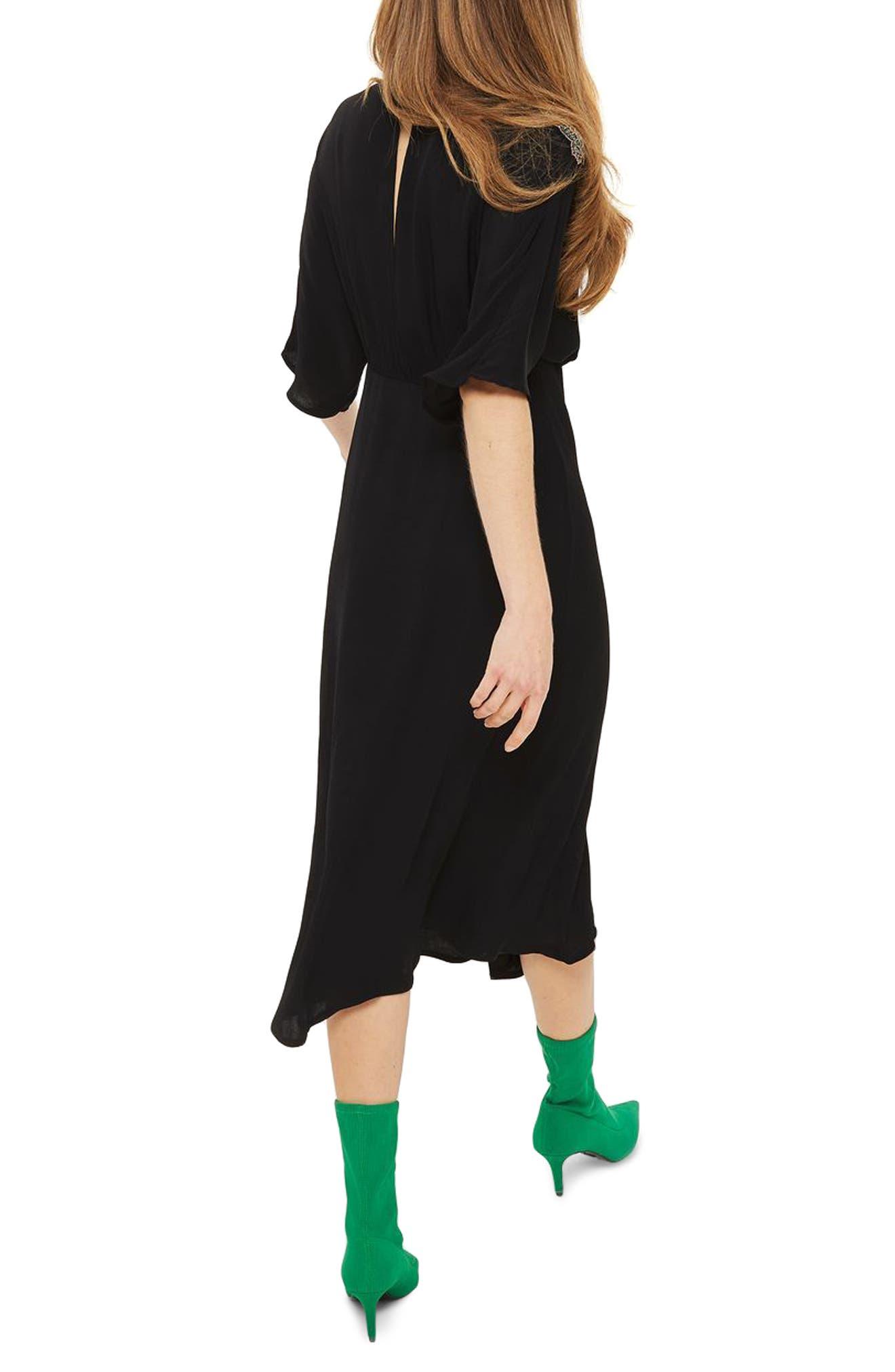 Alternate Image 2  - Topshop Beaded Dragon Wrap Midi Dress