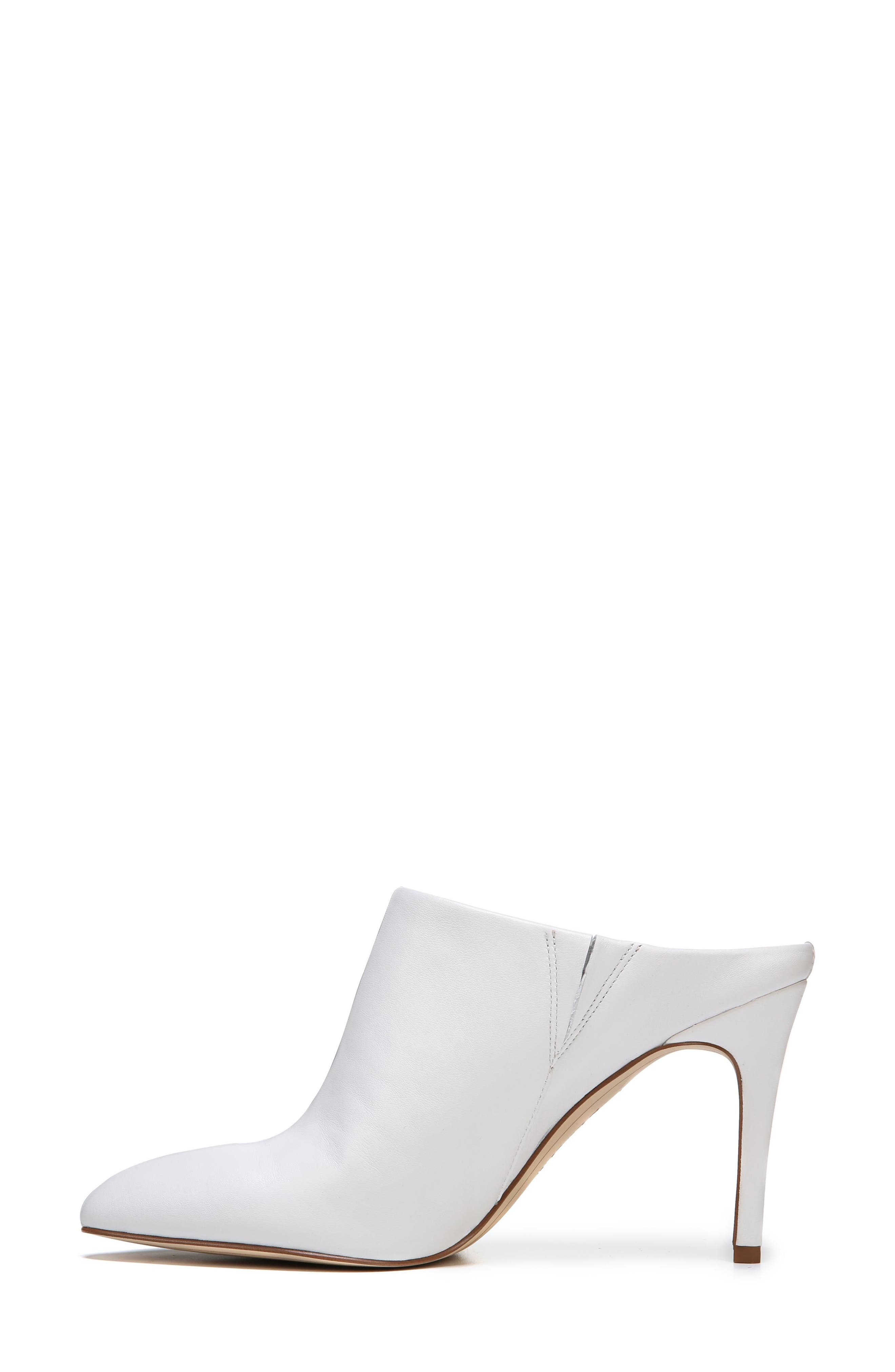 Oran Mule,                             Alternate thumbnail 4, color,                             Bright White Nappa Leather