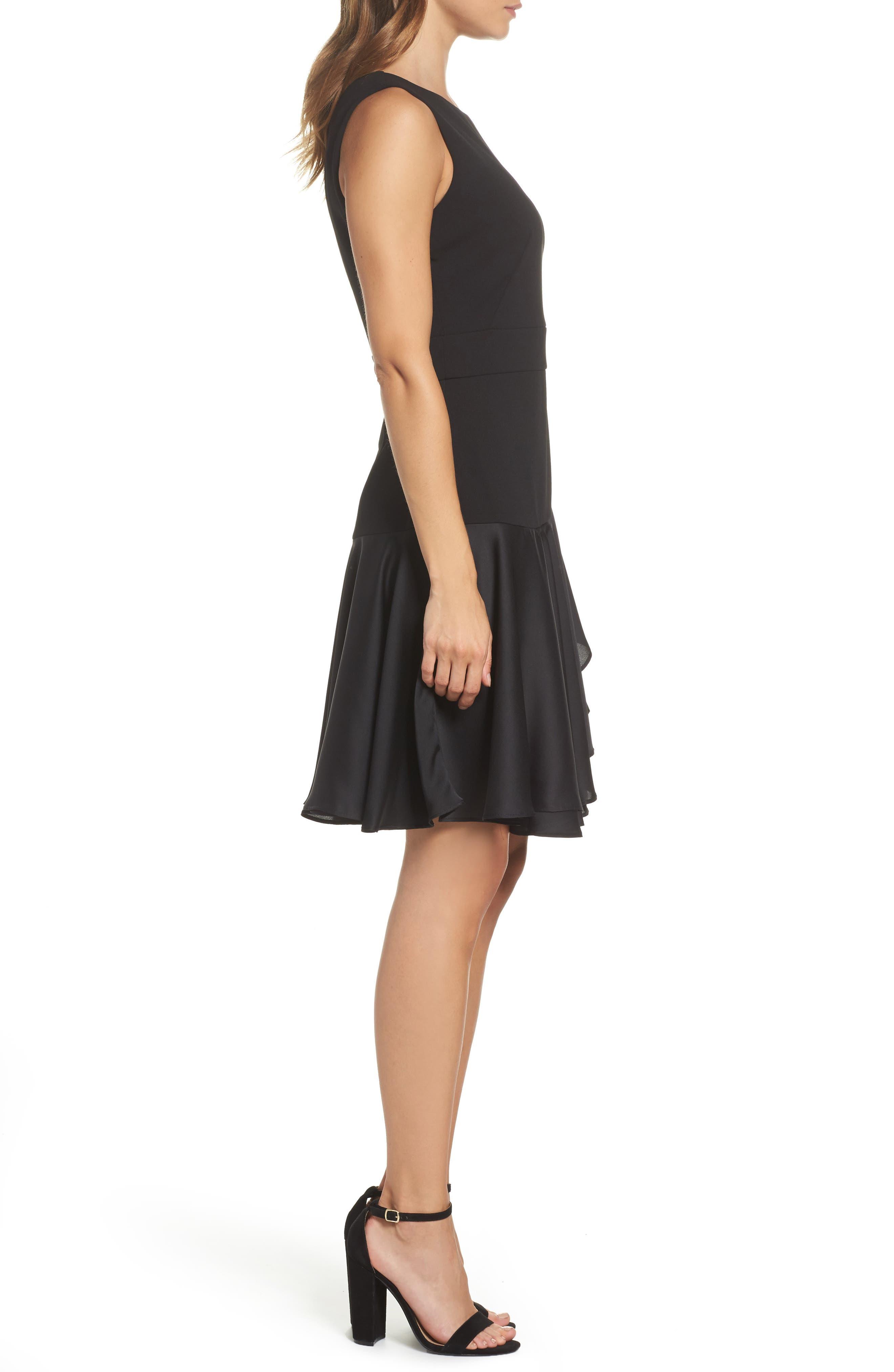 Alternate Image 3  - Taylor Dresses Ruffle Hem Fit & Flare Dress