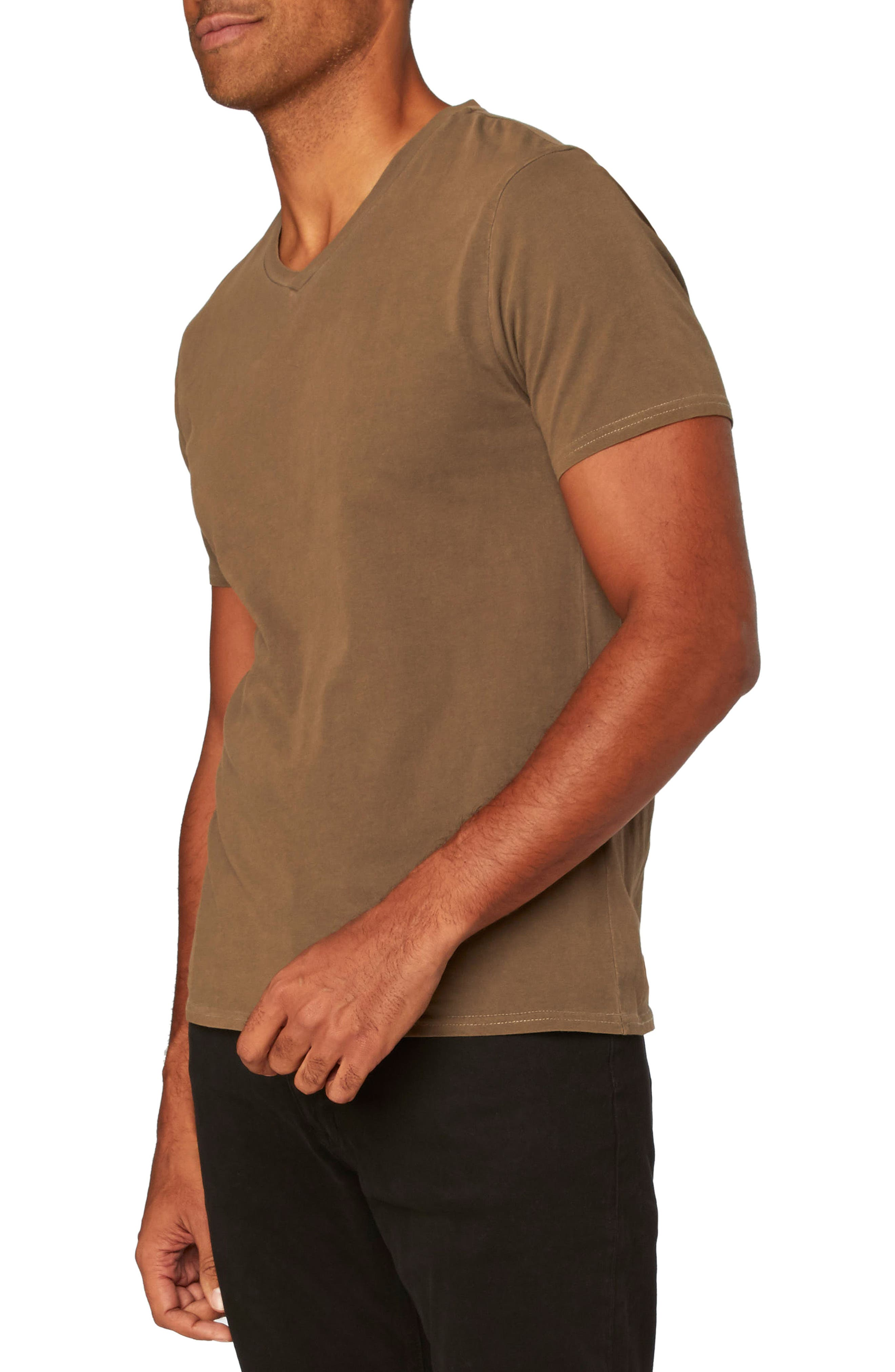 Standard V-Neck T-Shirt,                             Alternate thumbnail 3, color,                             Beech