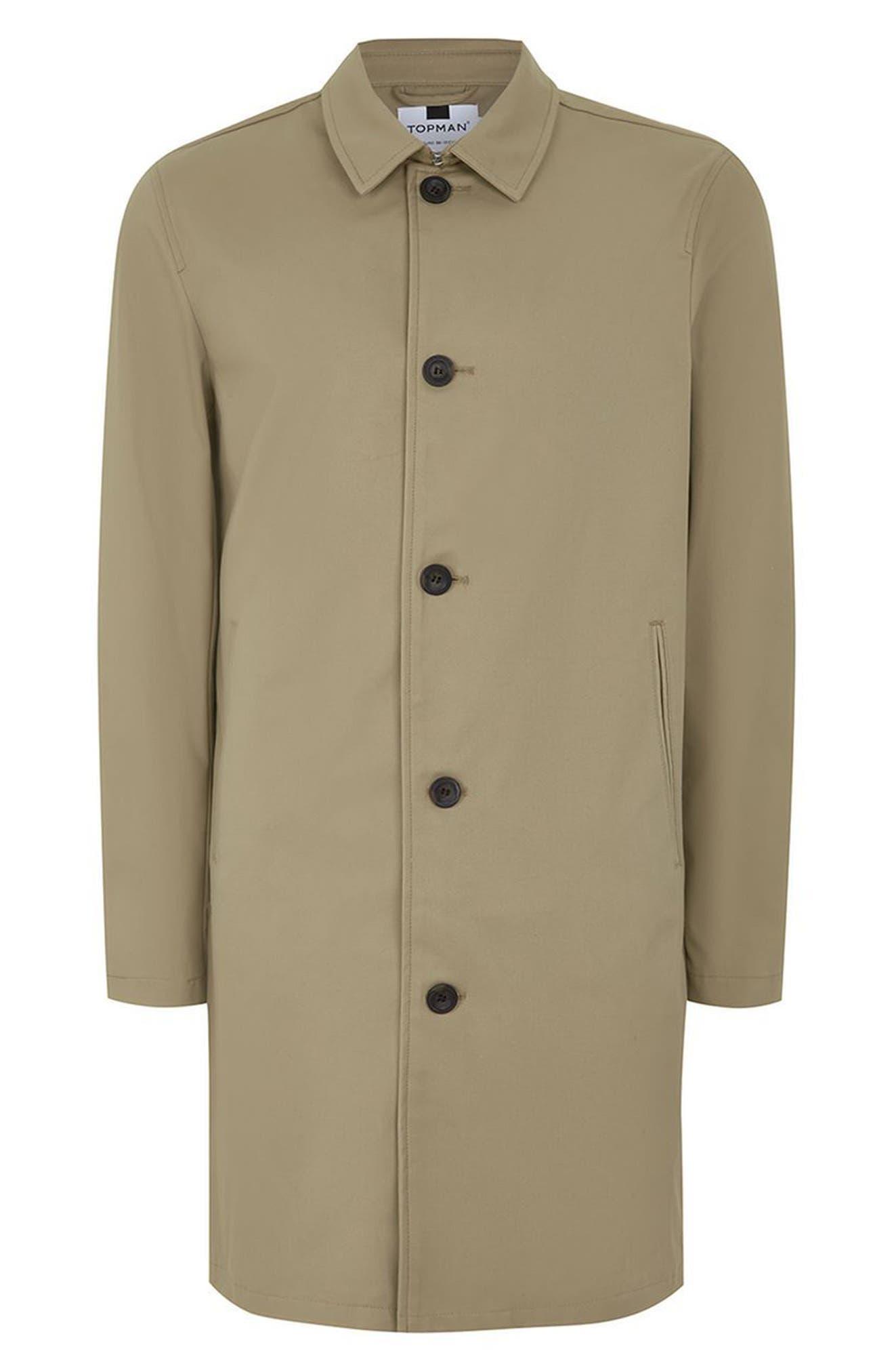 Alternate Image 4  - Topman Mac Single Breasted Topcoat