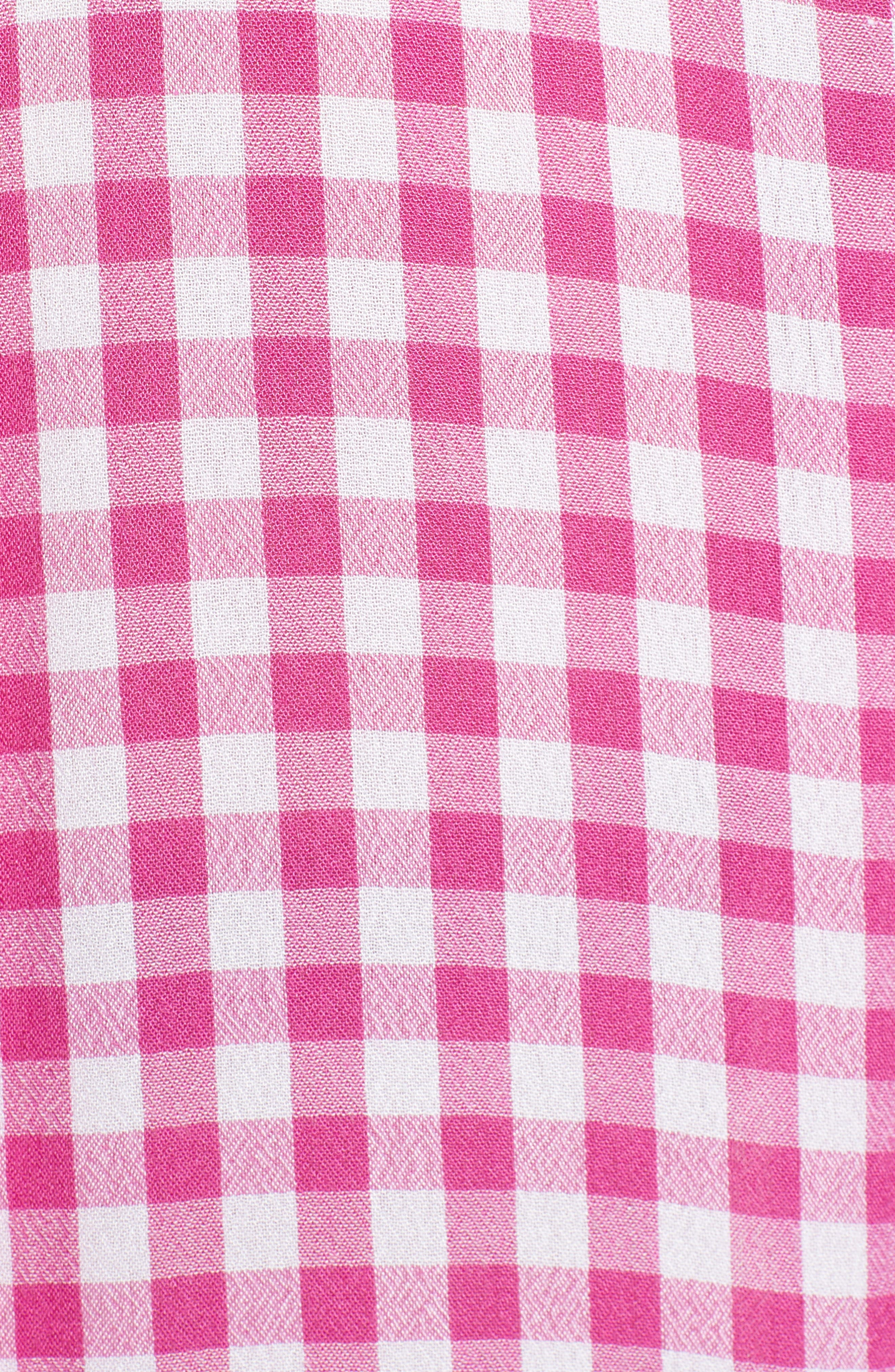 The Perfect Shirt,                             Alternate thumbnail 5, color,                             Pink Cyclamen Annette Check