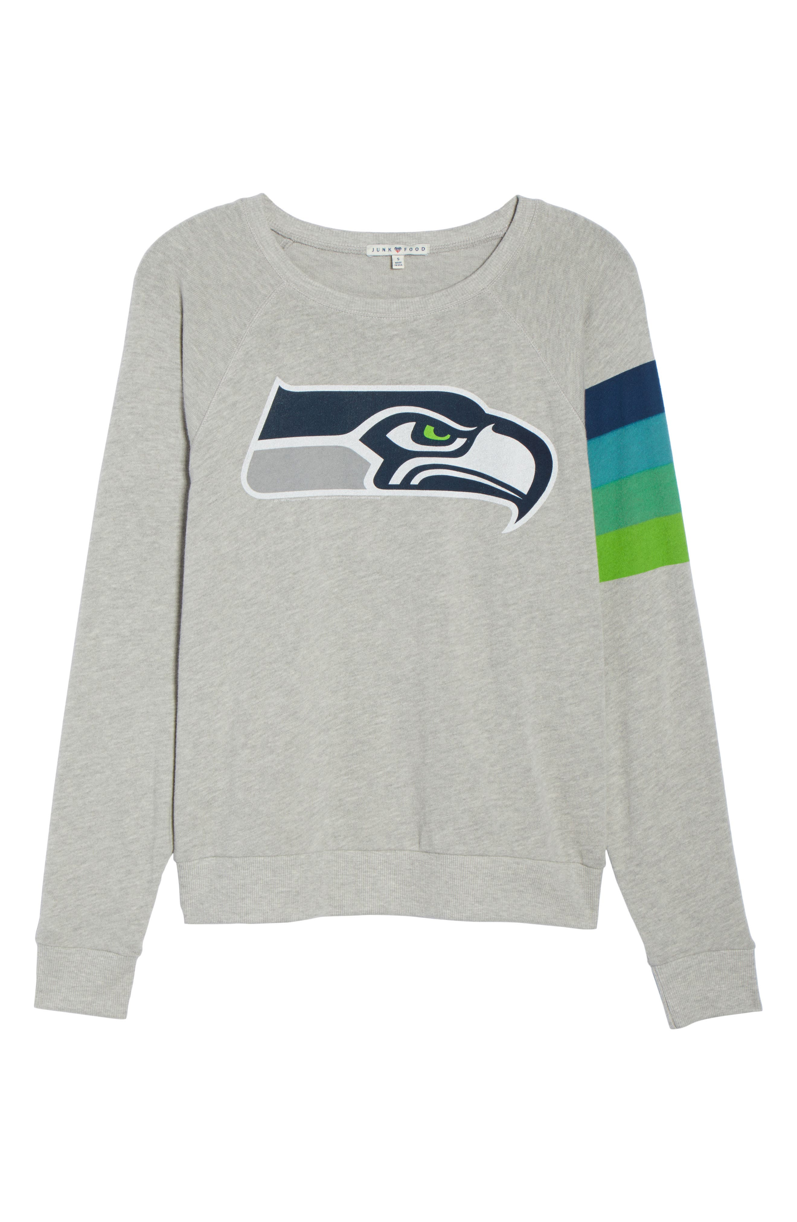NFL Seattle Seahawks Hacci Sweatshirt,                             Alternate thumbnail 7, color,                             Dove Heather Grey