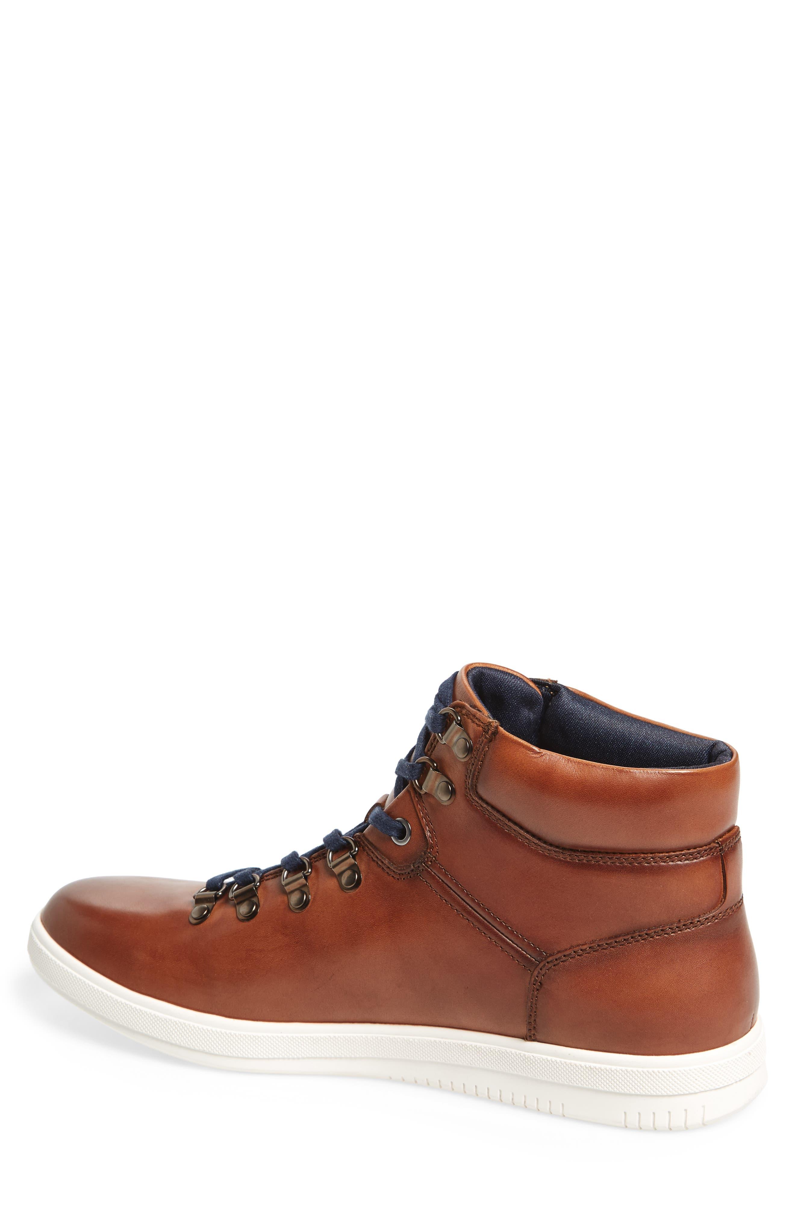 Slow Joe Mid Top Sneaker,                             Alternate thumbnail 2, color,                             Tan Leather