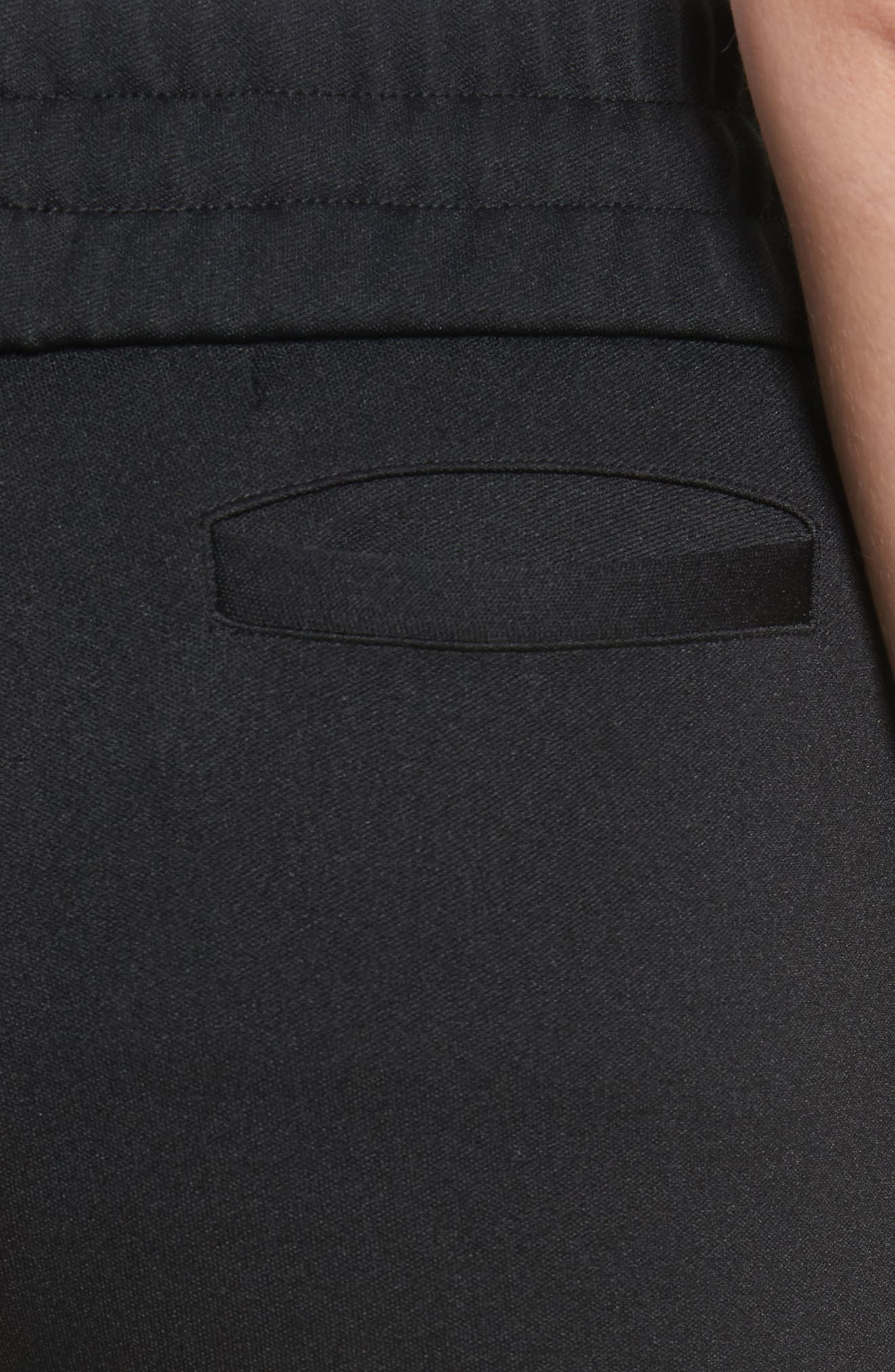 Flare Leg Track Pants,                             Alternate thumbnail 5, color,                             Black/ No Color