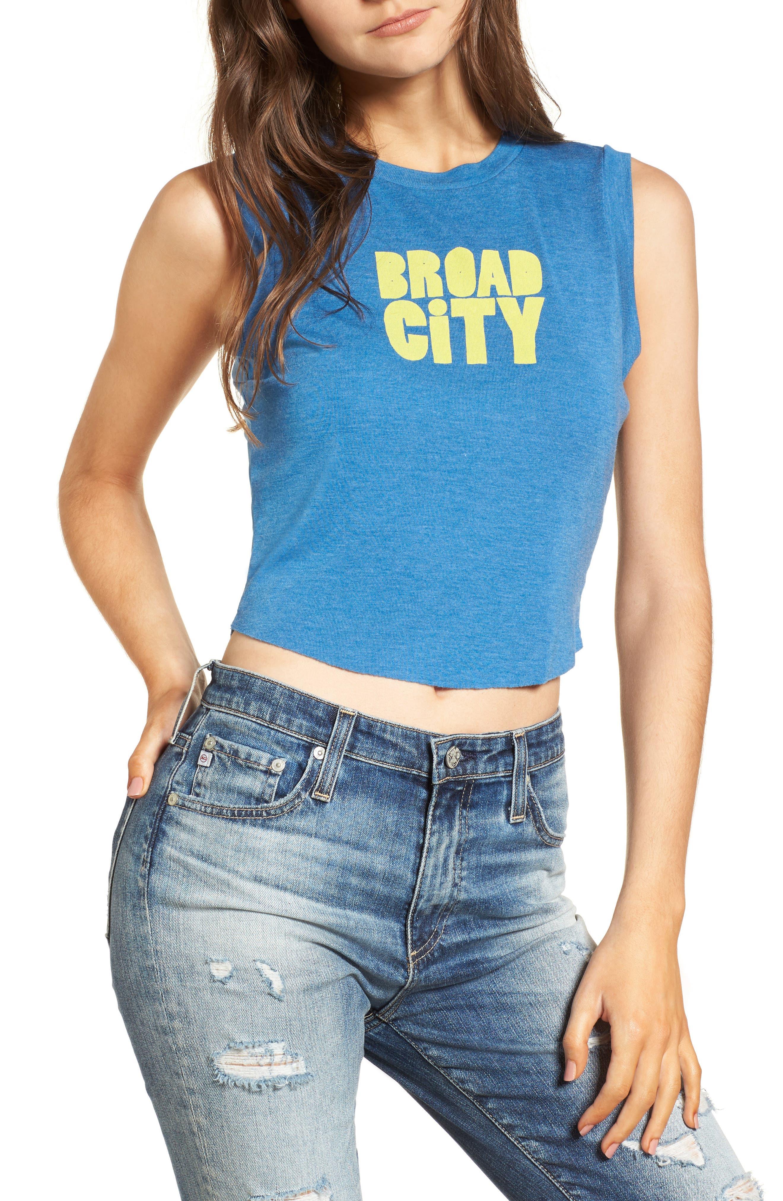 Broad City Keaton Tank,                             Main thumbnail 1, color,                             Blue Coast