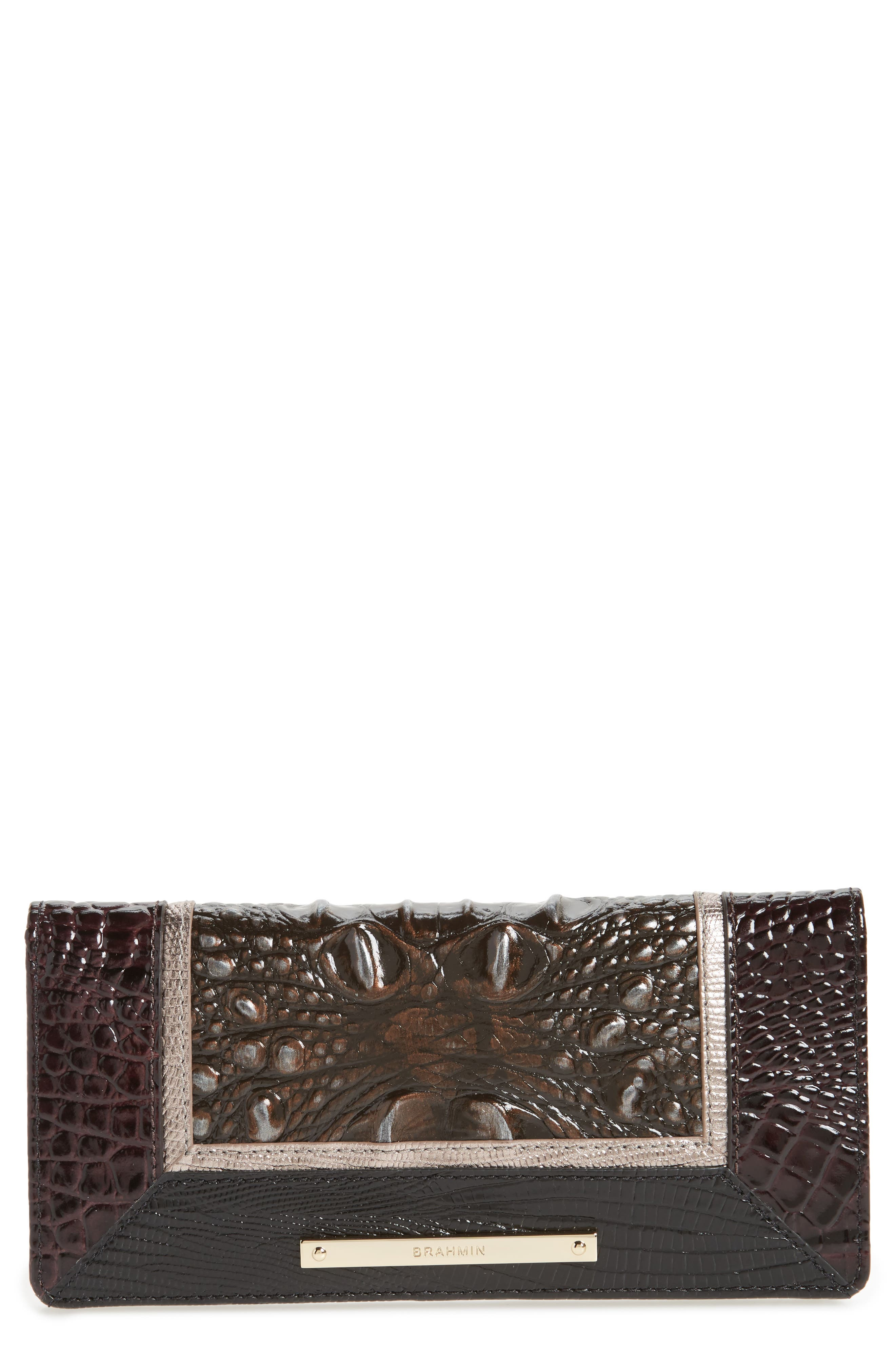 Ady Leather Continental Wallet,                         Main,                         color, Ironwood