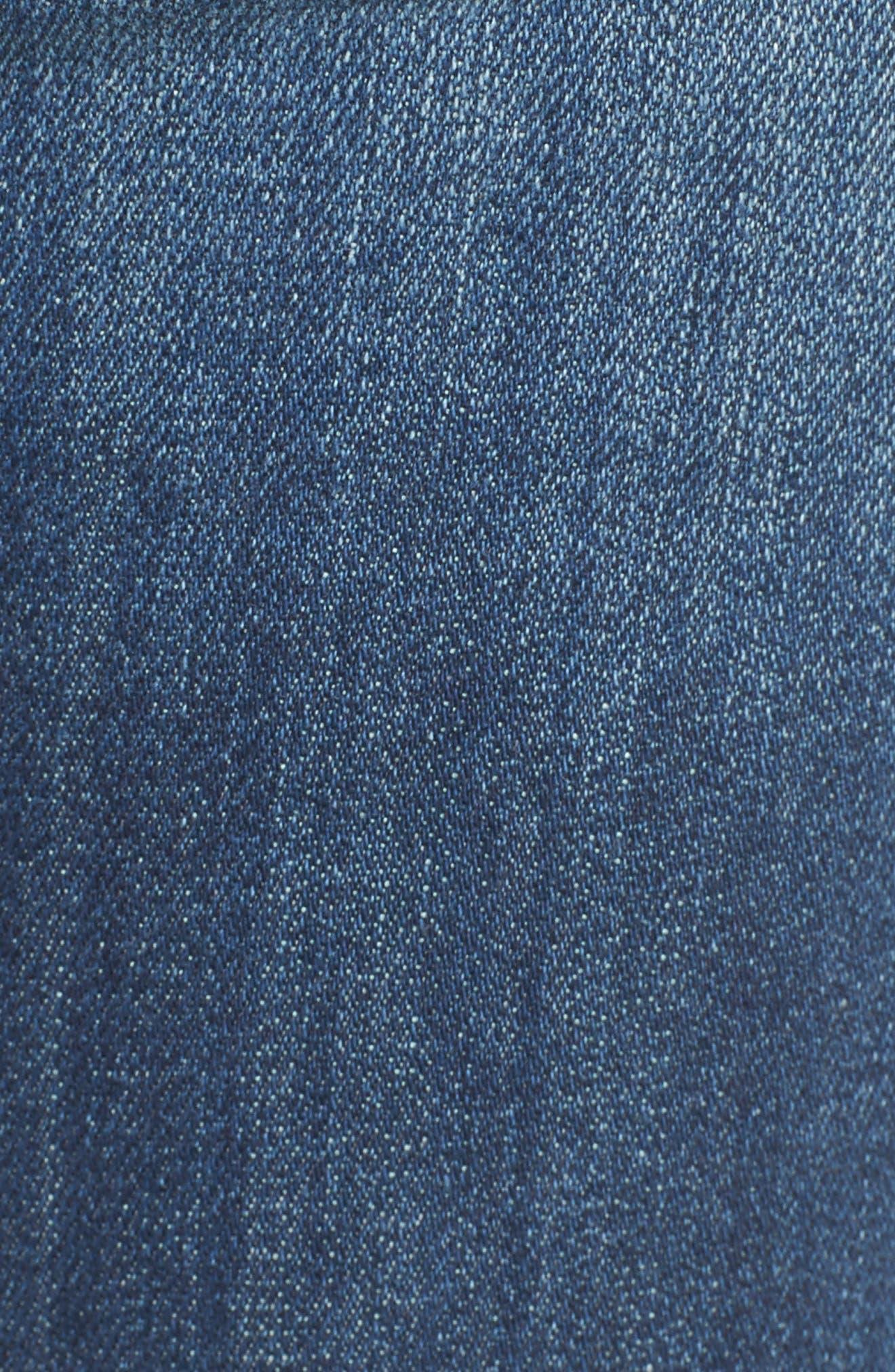 Alternate Image 6  - Vigoss Jagger Mid-Rise Skinny Jeans (Medium Wash)
