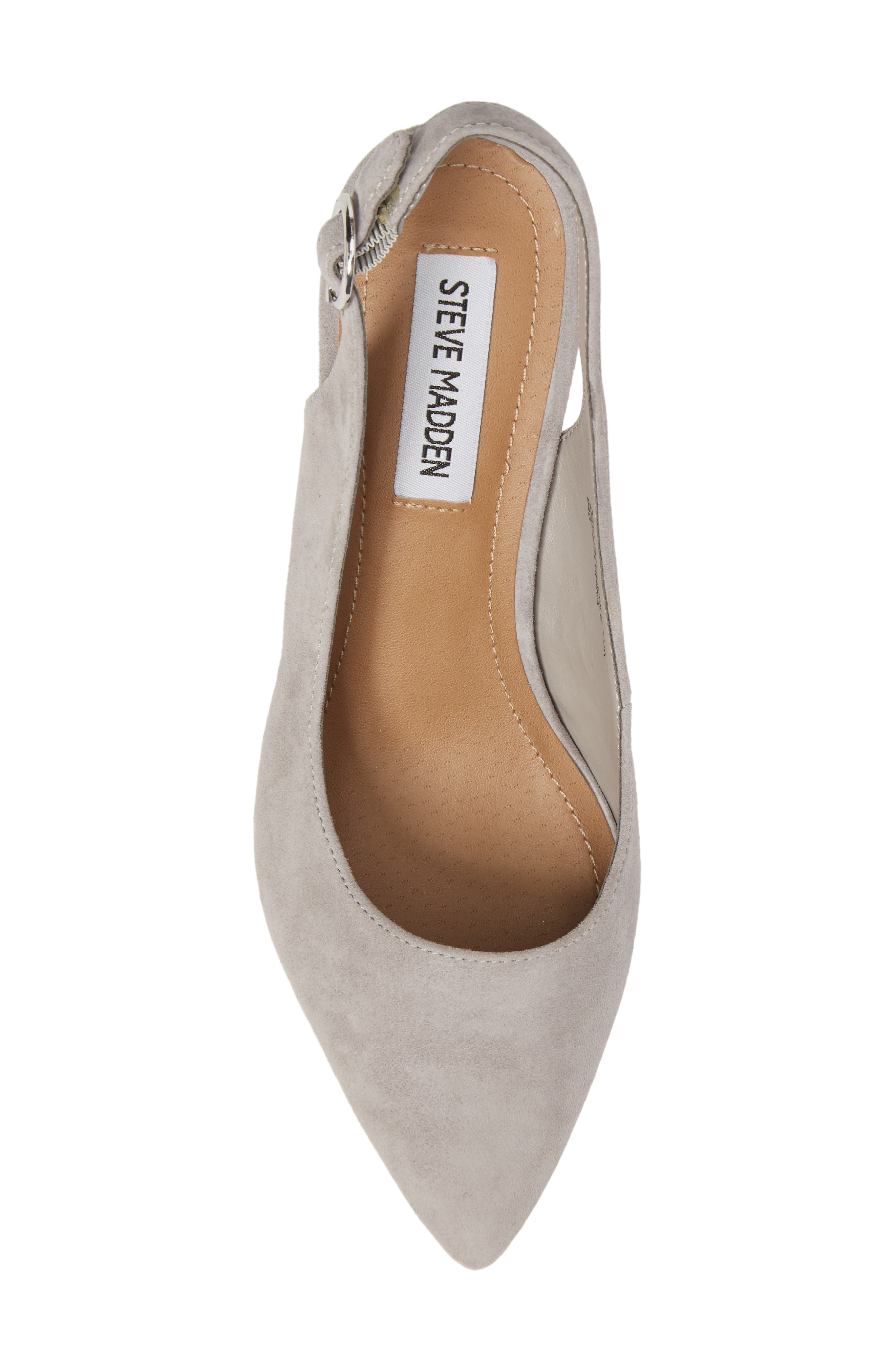 Dizzy Slingback Pump,                             Alternate thumbnail 5, color,                             Grey Suede