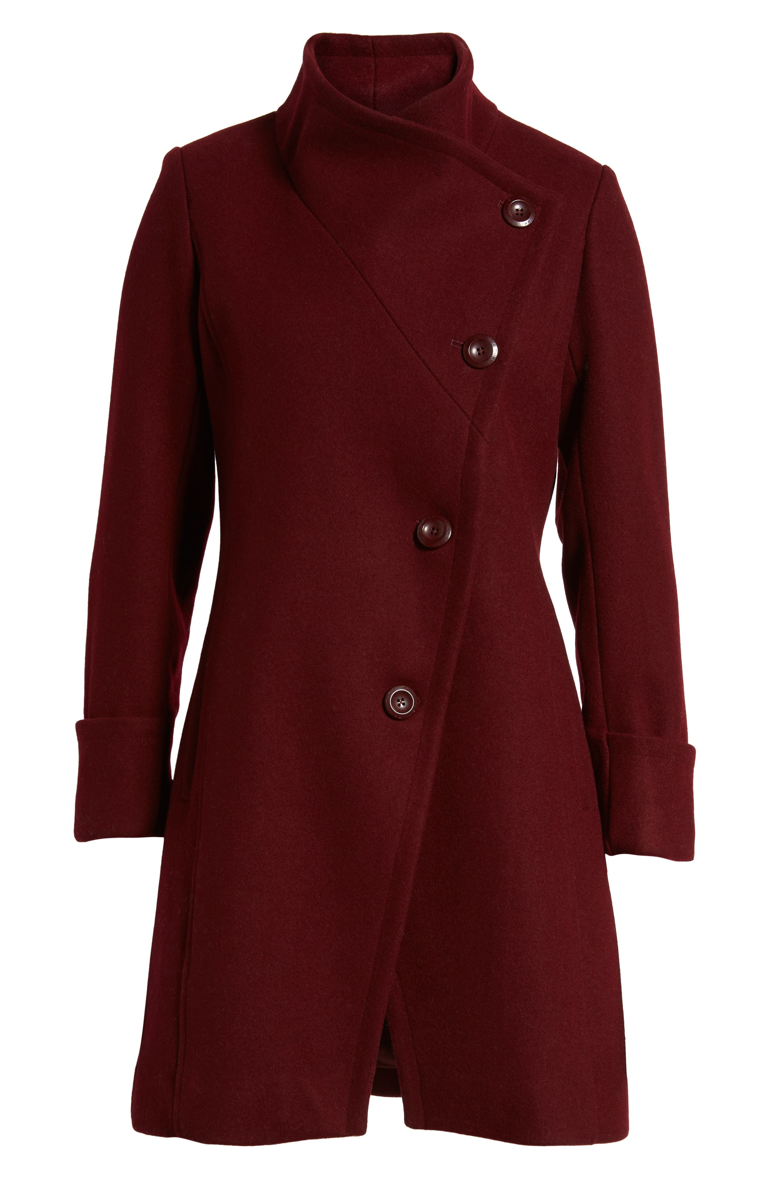 Fiona Double Breasted Coat,                             Main thumbnail 1, color,                             Oxblood