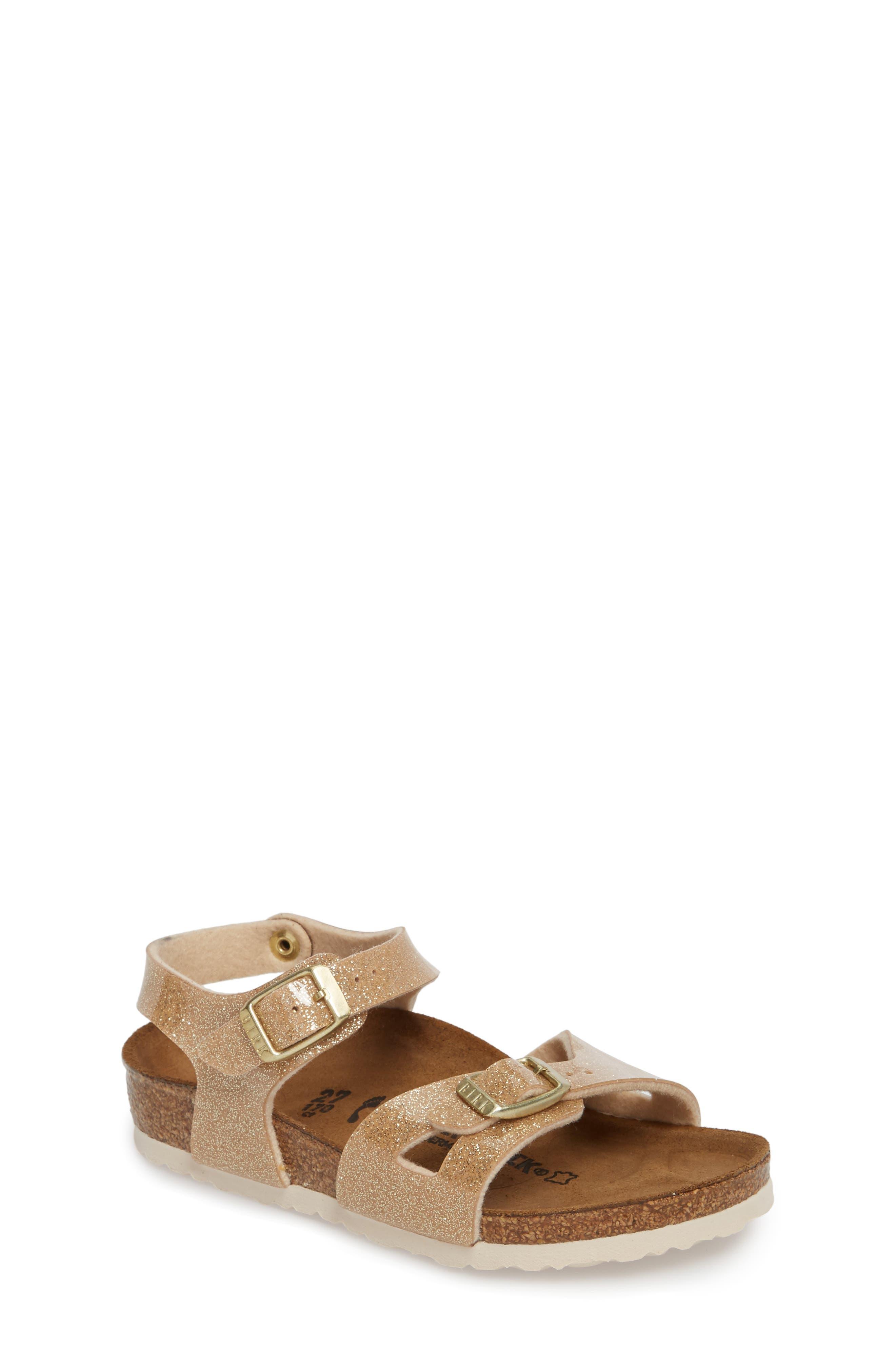 'Rio' Sandal,                         Main,                         color, Galaxy Gold