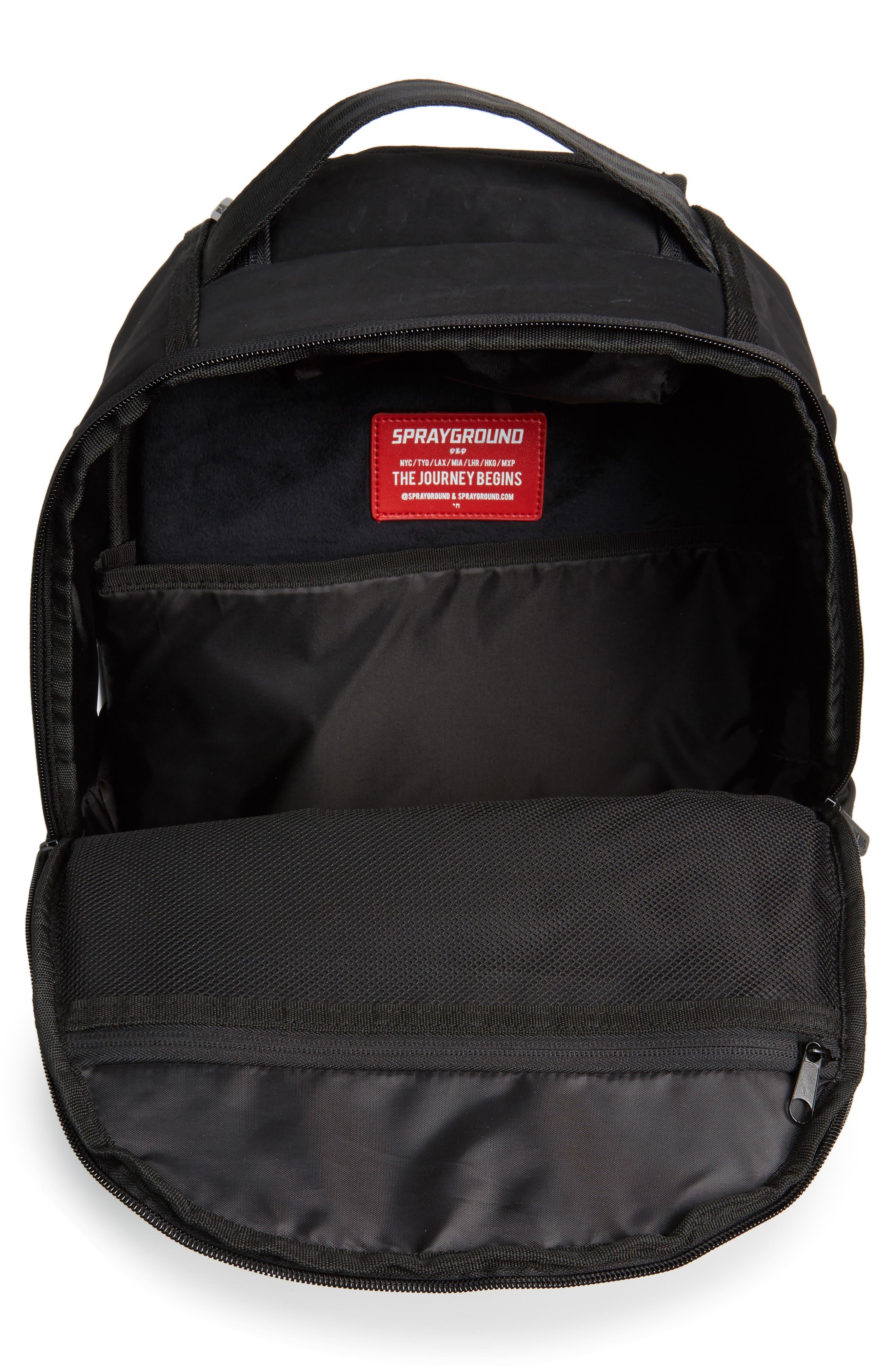 Ghost Shark Backpack,                             Alternate thumbnail 5, color,                             Black