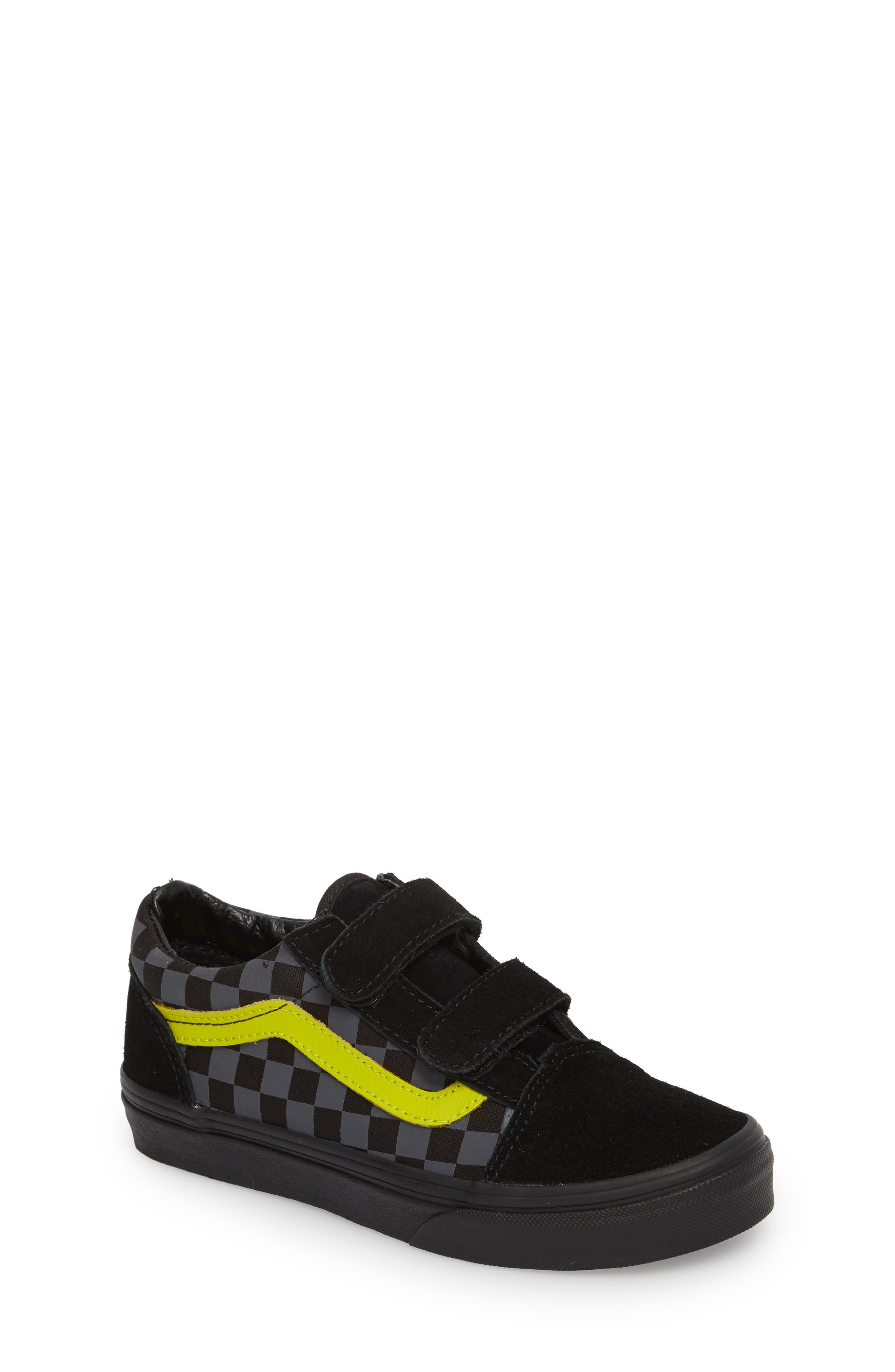 Alternate Image 1 Selected - Vans Reflective Checkerboard Old Skool V Sneaker (Baby, Walker, Toddler, Little Kid & Big Kid)