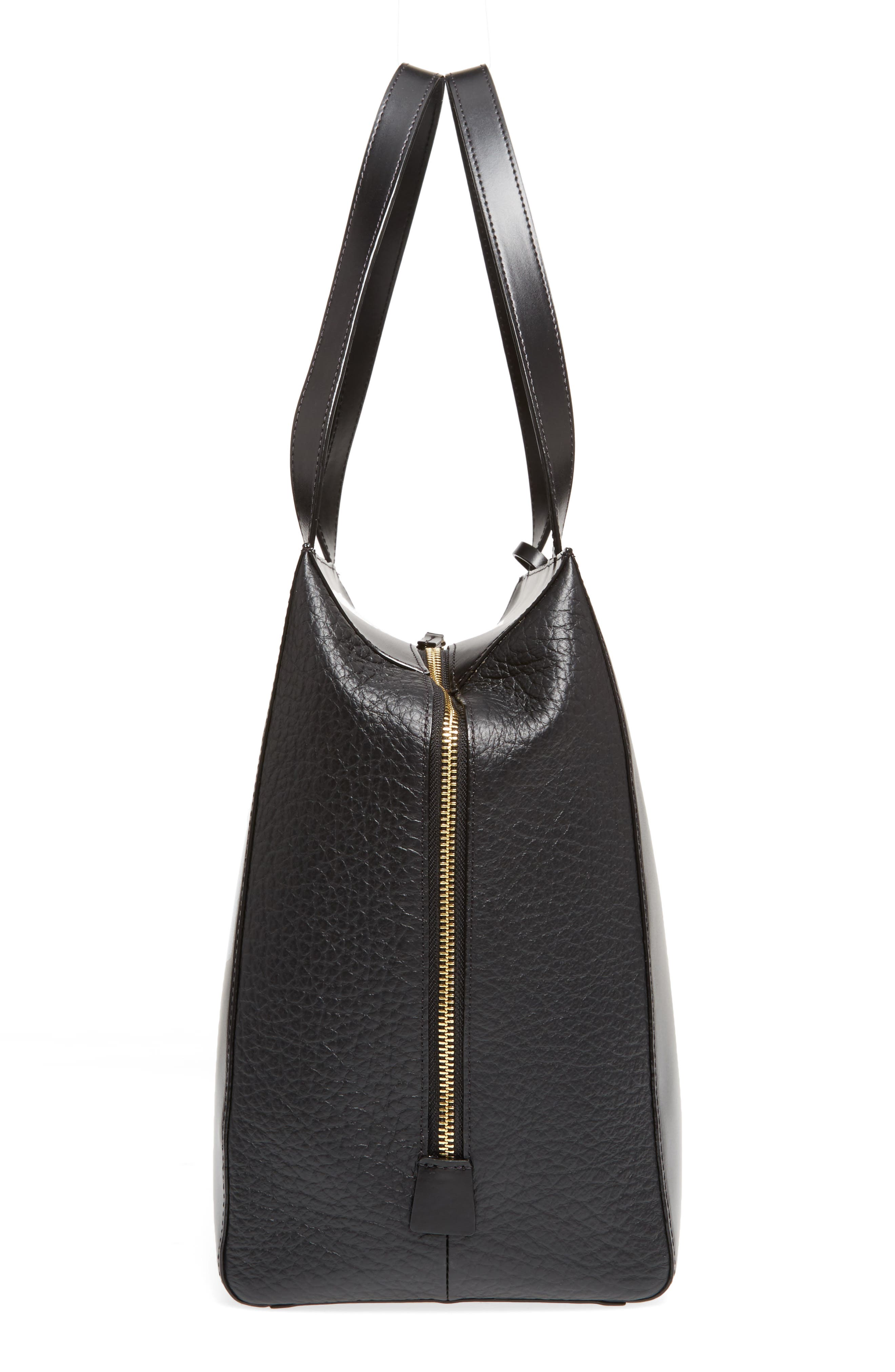 In the Mix Doris RFID Leather Work Tote,                             Alternate thumbnail 5, color,                             Jet
