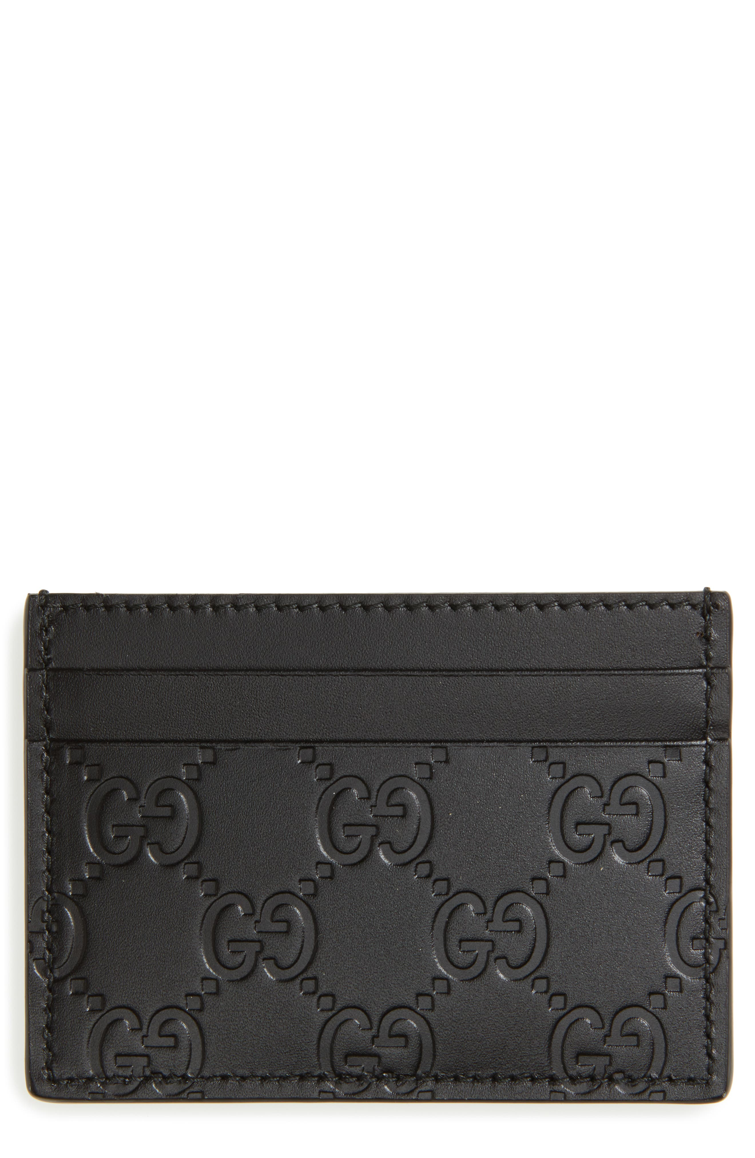 Alternate Image 1 Selected - Gucci Leather Card Case
