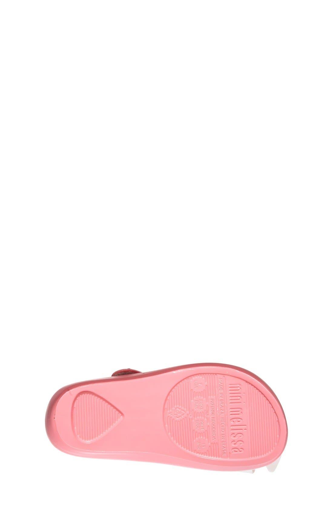 'Ultragirl Bow' Mary Jane Flat,                             Alternate thumbnail 4, color,                             Pink White