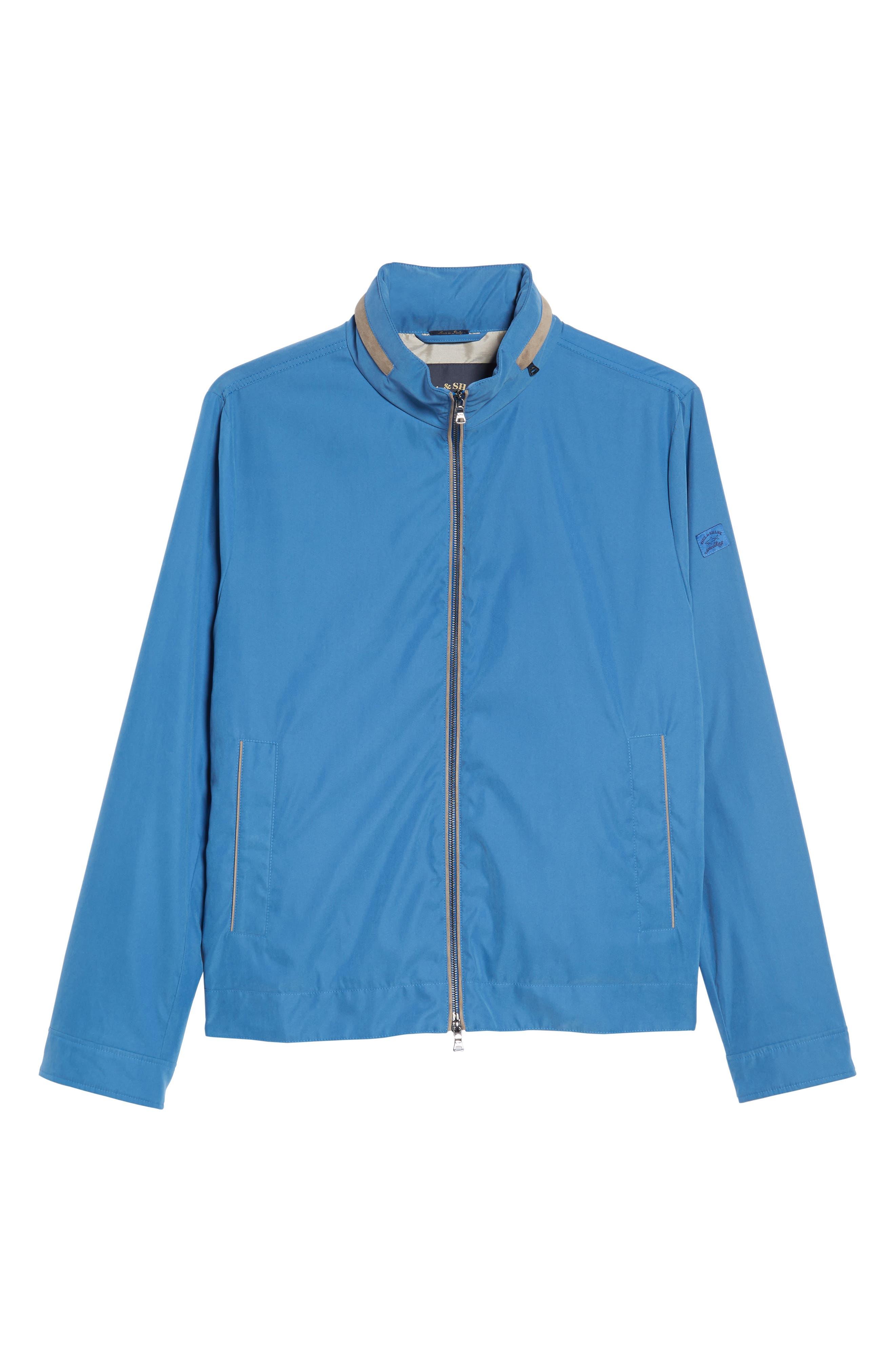 Paul&Shark Water Repellent Microfiber Jacket,                             Alternate thumbnail 6, color,                             Blue