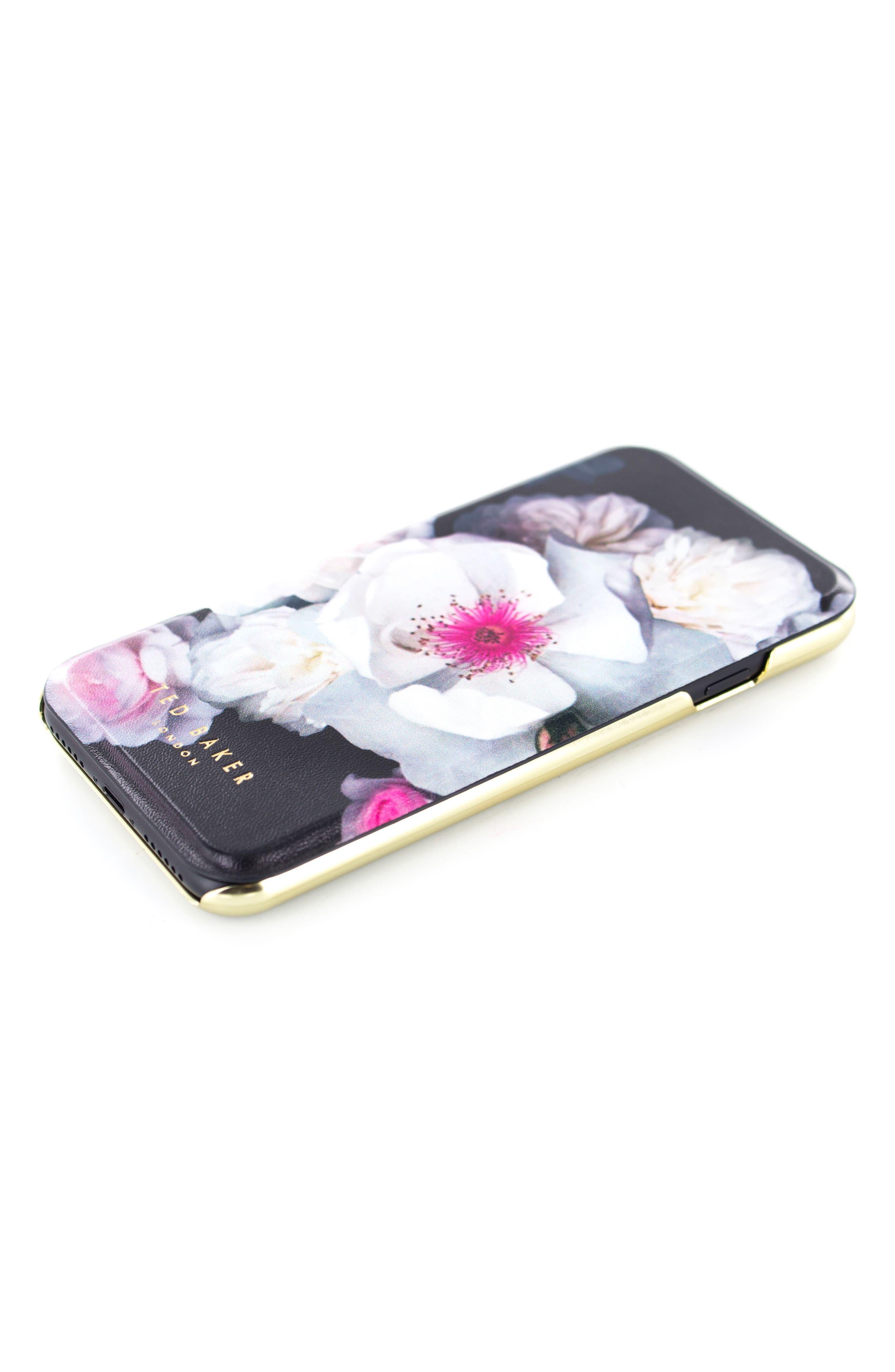 Chelsea iPhone 6/6s/7/8 & 6/6s/7/8 Plus Mirror Folio Case,                         Main,                         color, Chelsea Black