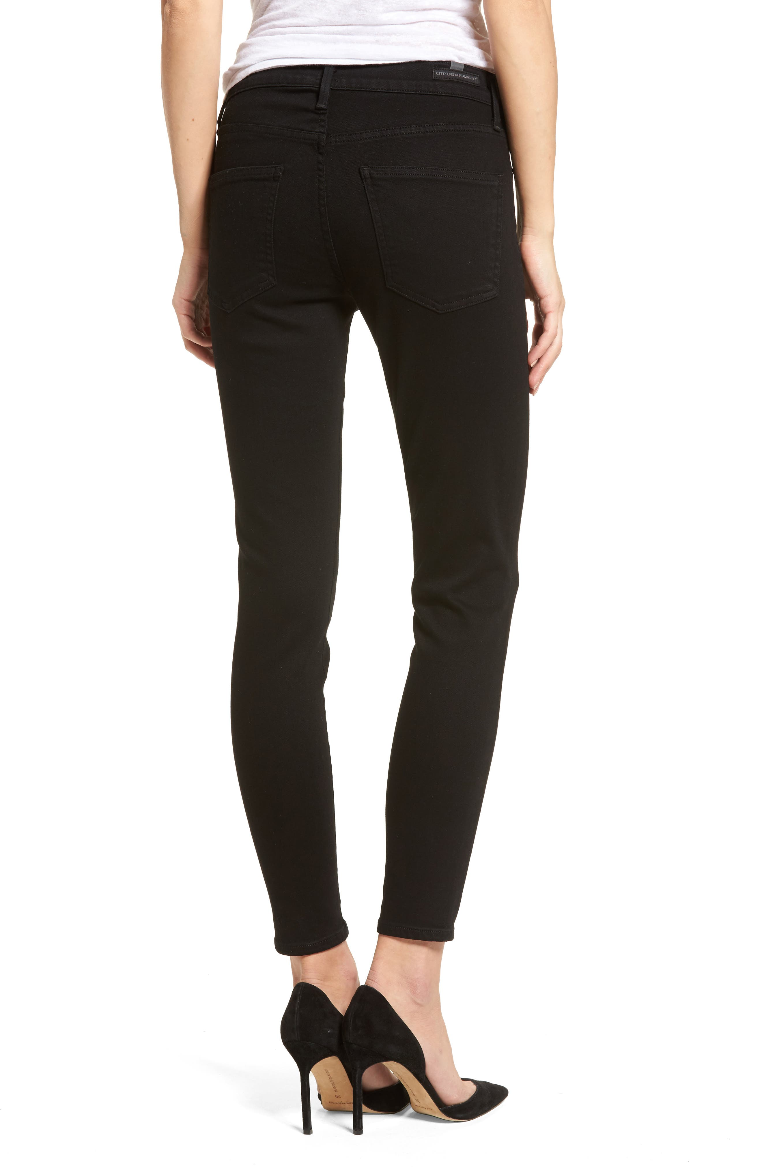 Alternate Image 2  - Citizens of Humanity Rocket Skinny Jeans (Blackbird) (Petite)
