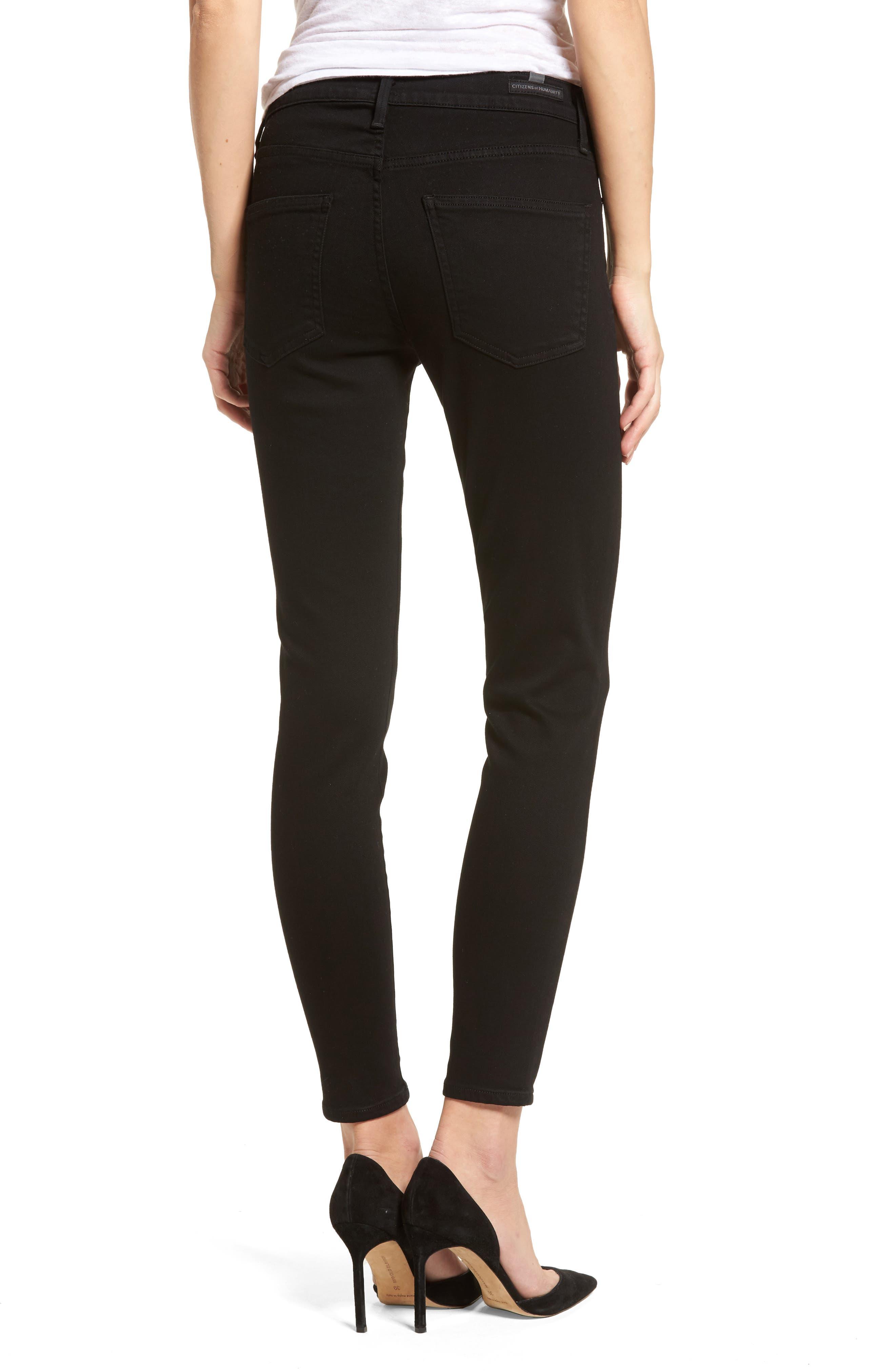 Rocket Skinny Jeans,                             Alternate thumbnail 2, color,                             Blackbird