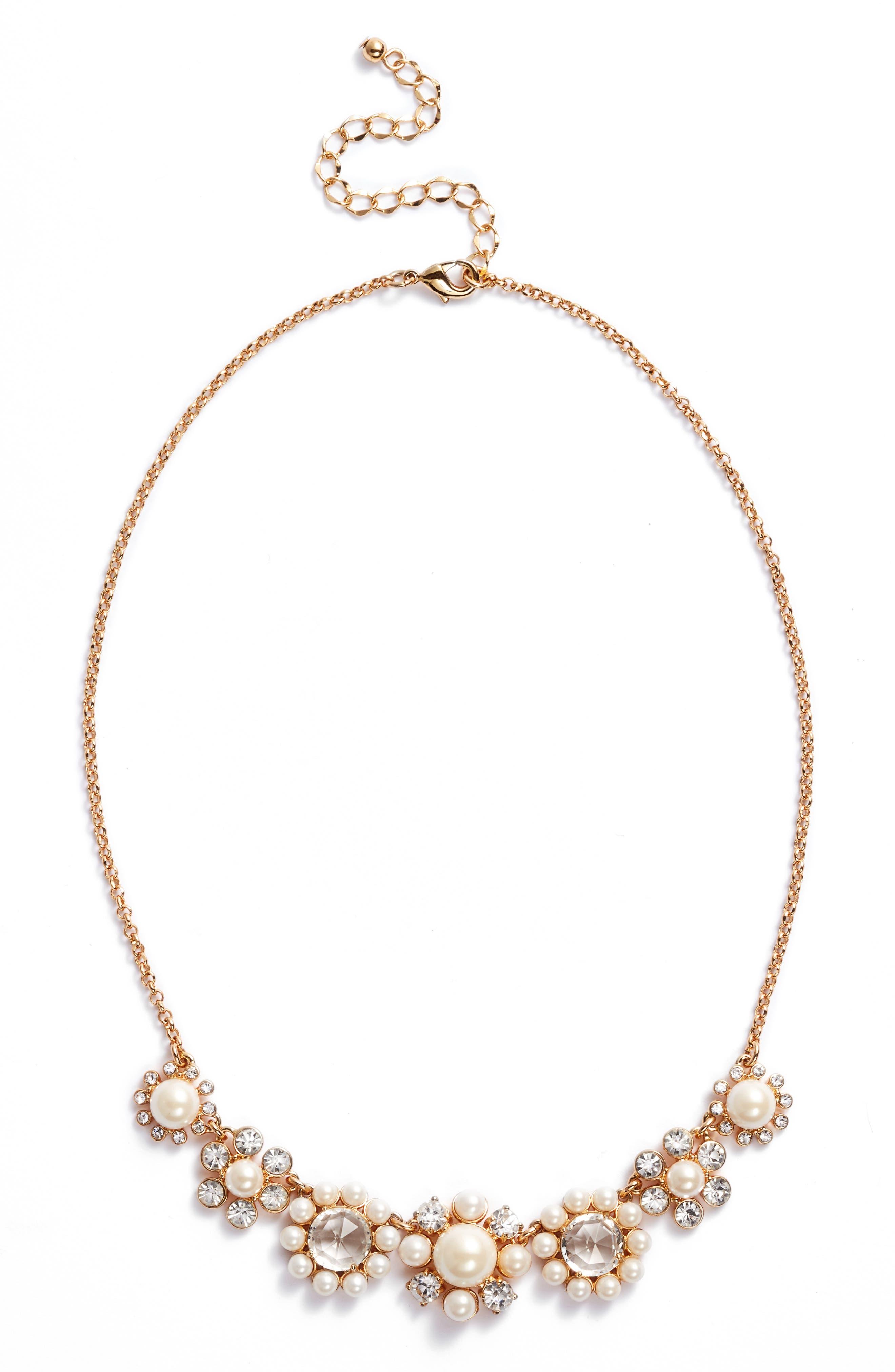 kate spade new york luminous mini crystal collar necklace