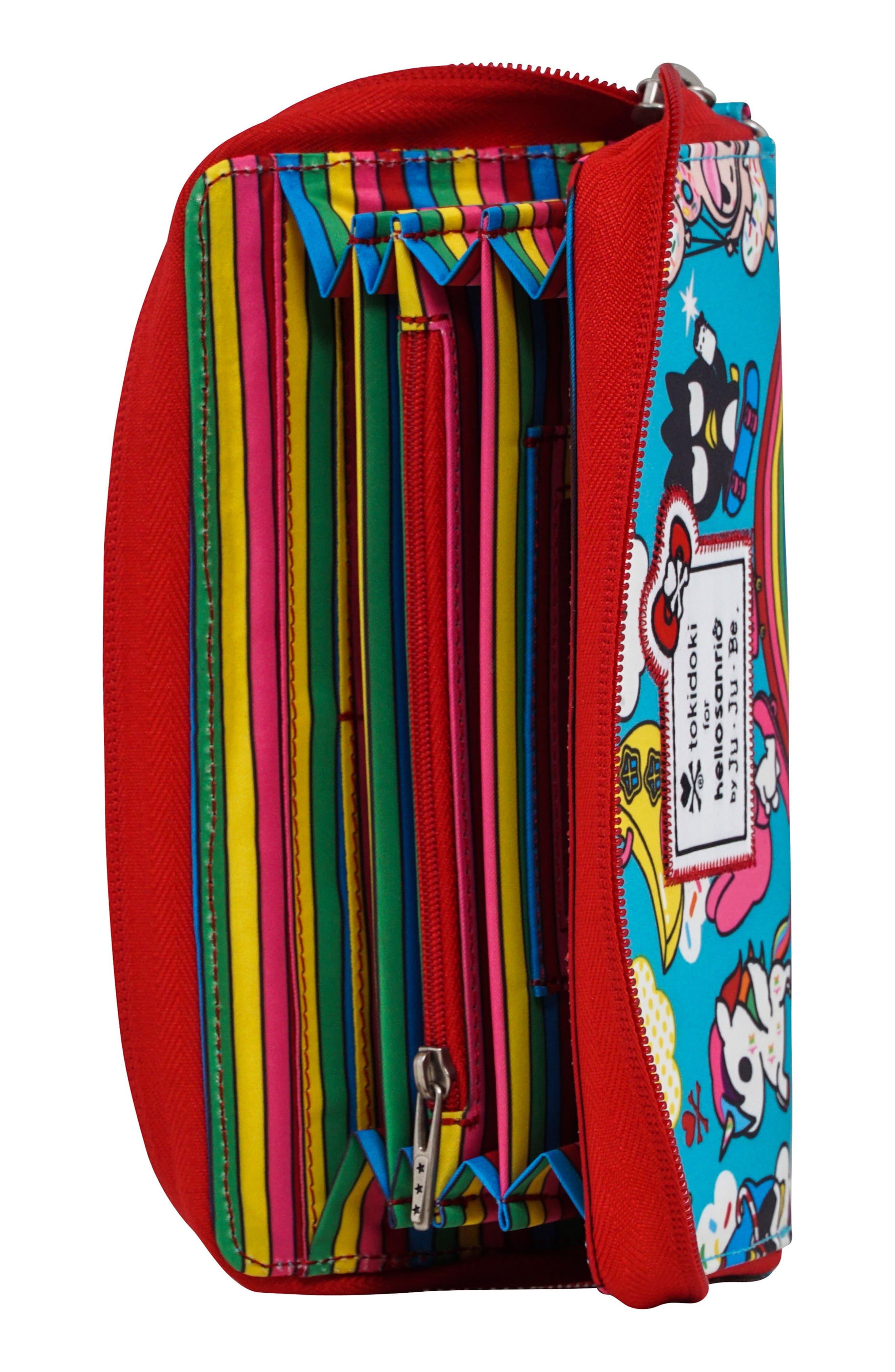 x tokidoki for Hello Sanrio Rainbow Dreams Be Spendy Clutch Wallet,                             Alternate thumbnail 3, color,                             Rainbow Dreams