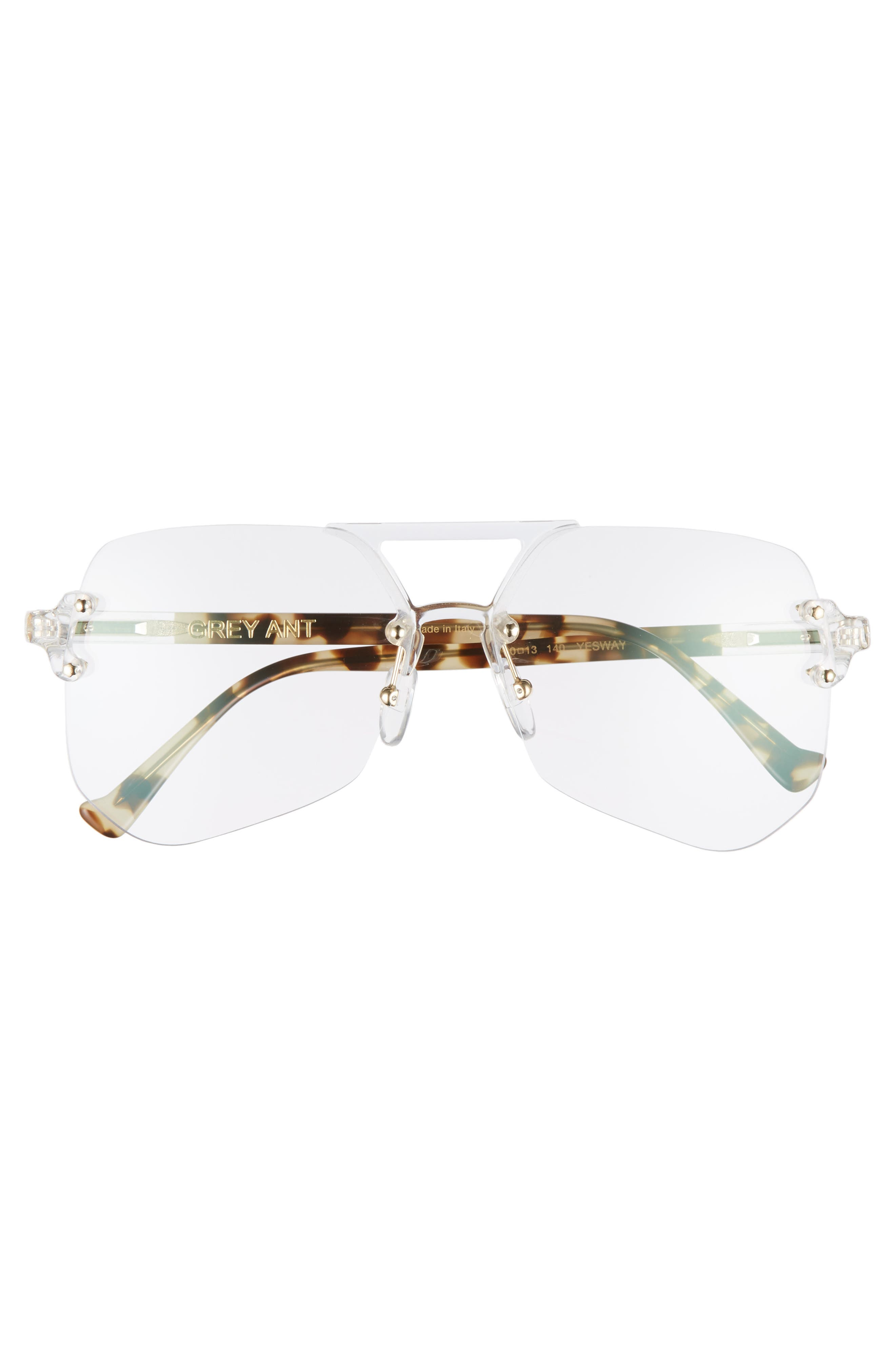 Yesway 60mm Optical Glasses,                             Alternate thumbnail 3, color,                             Gold / Tortoise