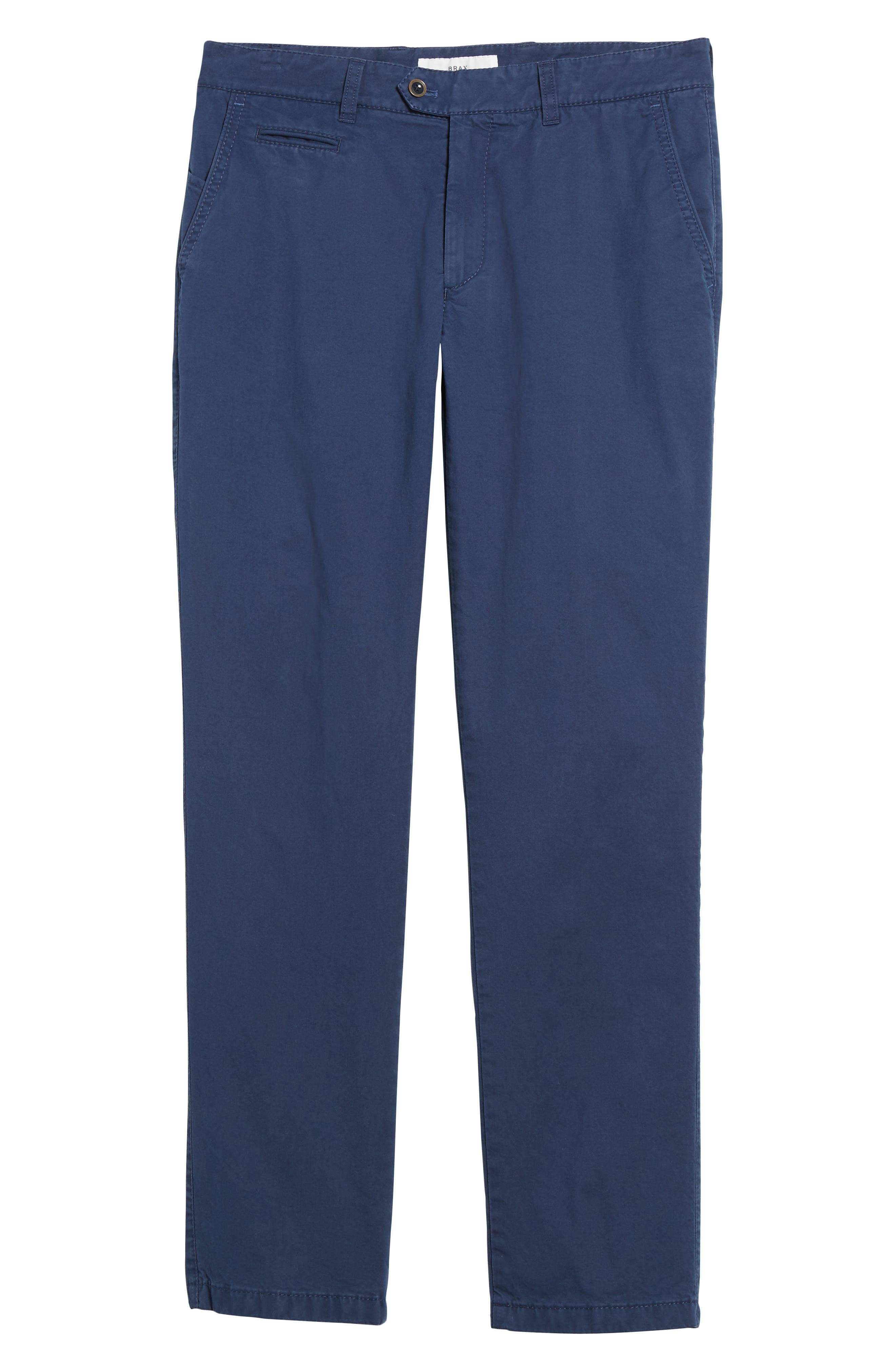 Everest Flat Front Chinos,                             Alternate thumbnail 6, color,                             Pacific