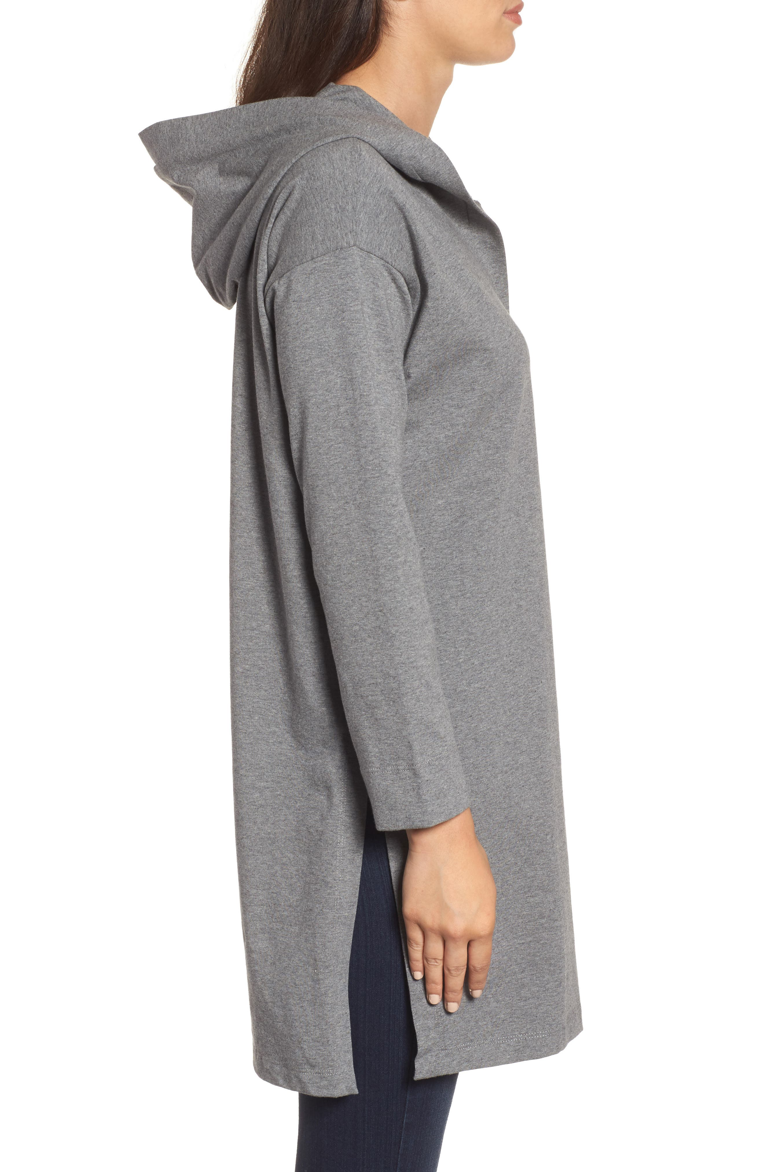 Hooded Tunic,                             Alternate thumbnail 3, color,                             Grey
