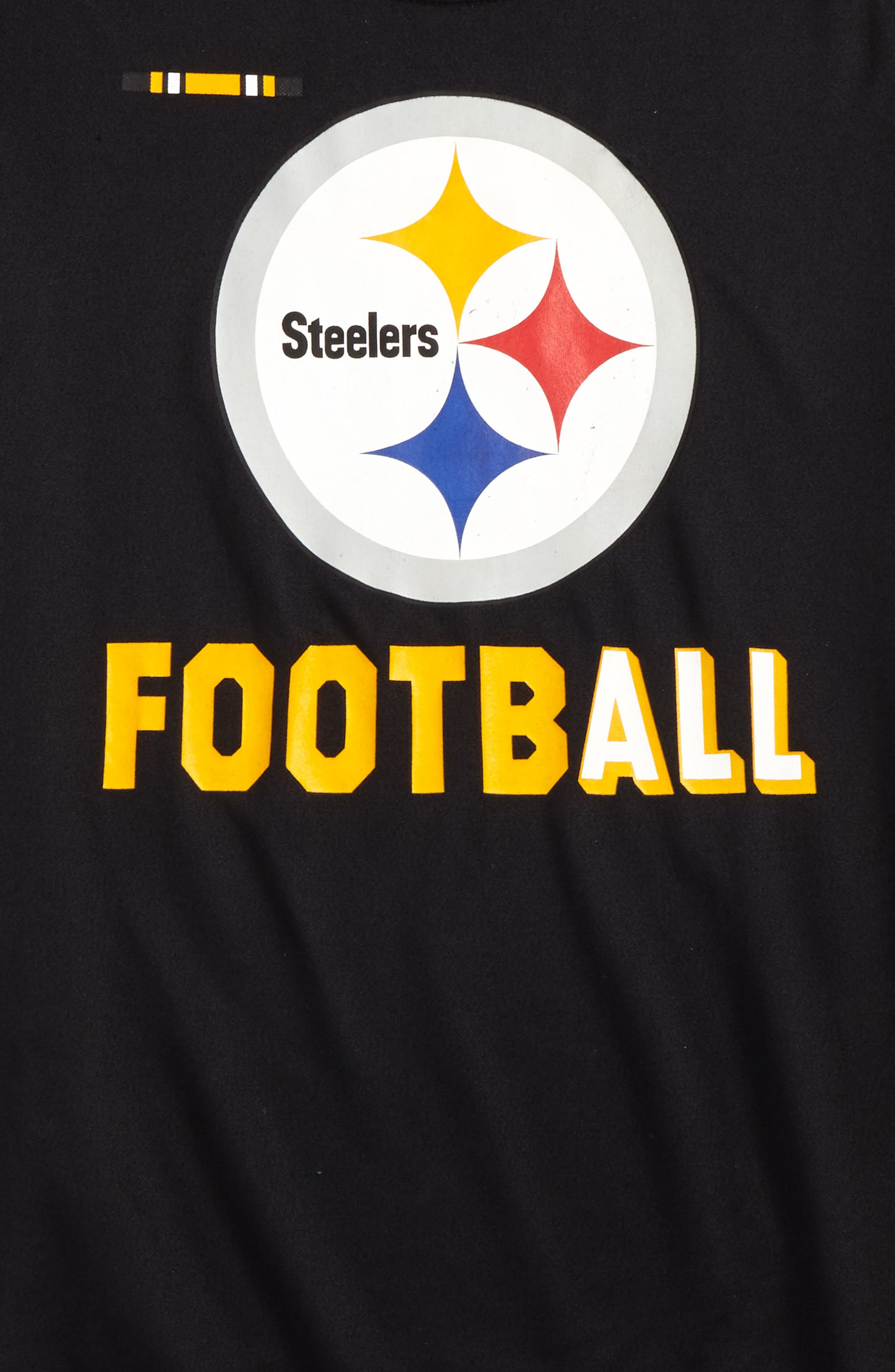 Nike NFL Logo - Pittsburgh Steelers Dry T-Shirt,                             Alternate thumbnail 2, color,                             Black