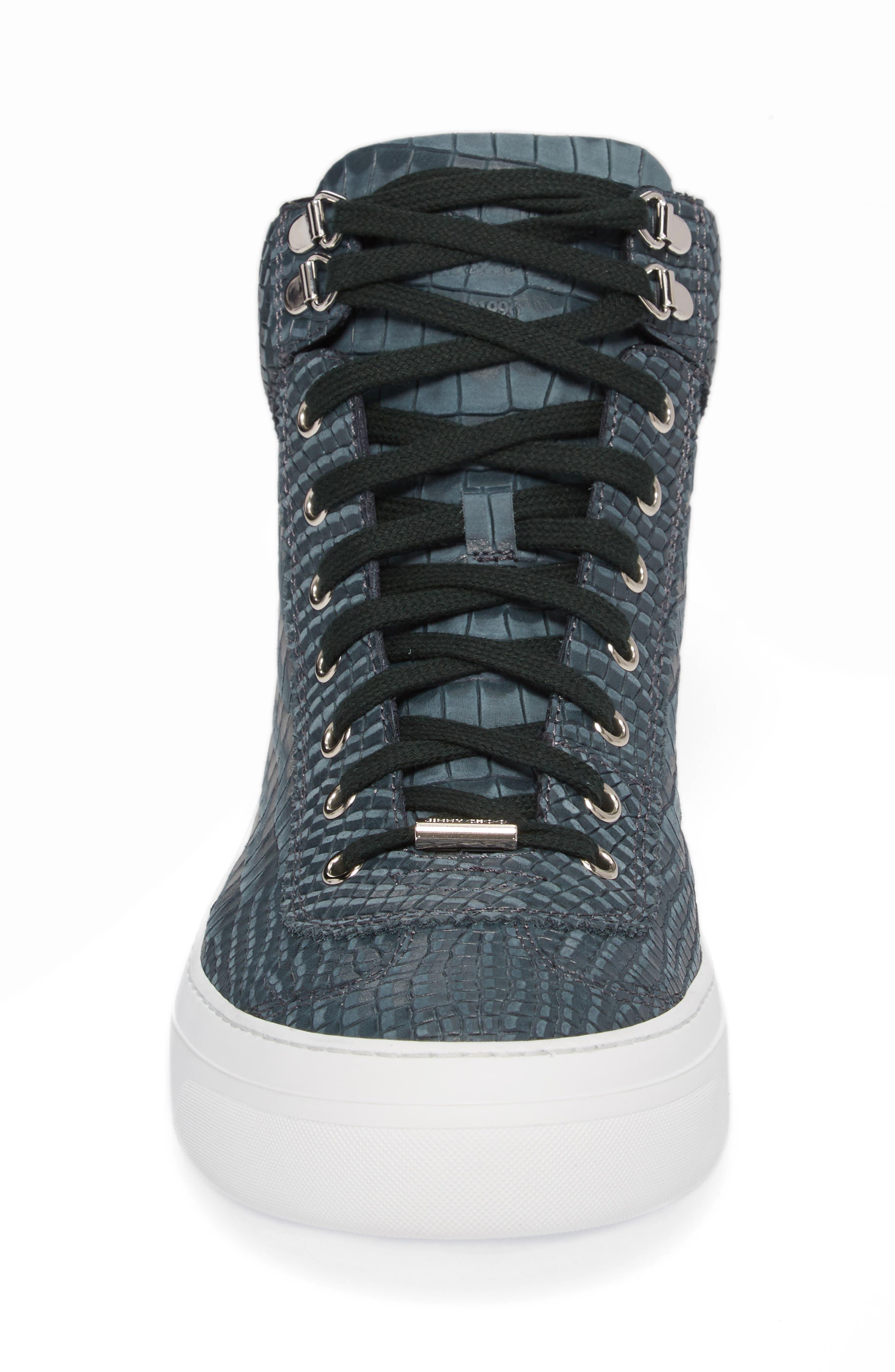 Argyle Sneaker,                             Alternate thumbnail 4, color,                             Dark Pavone Nubuck