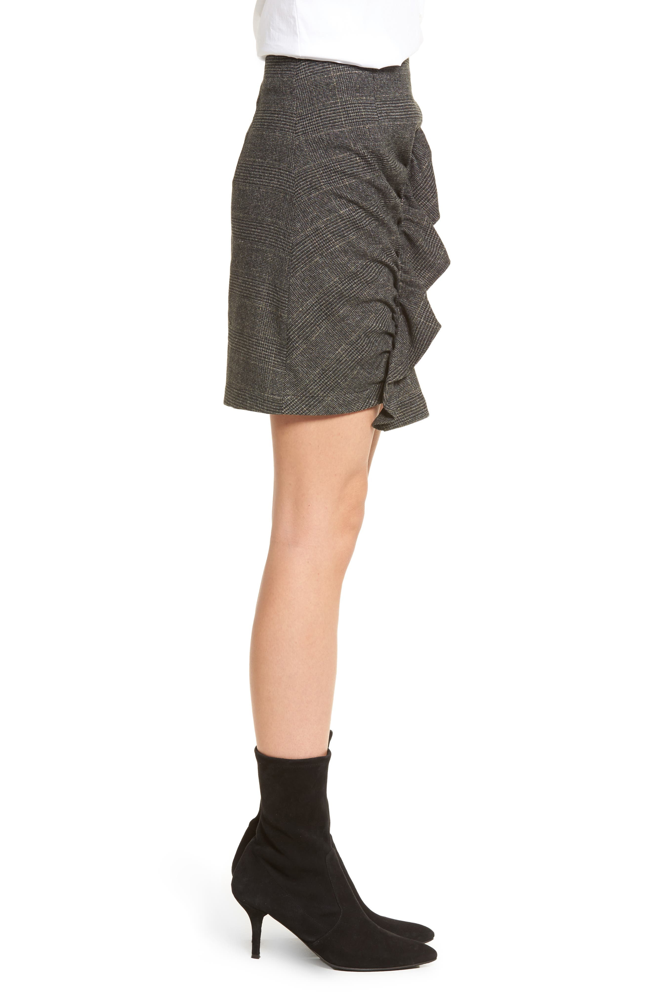 Alternate Image 3  - BP. Glen Plaid Ruched Ruffle Skirt
